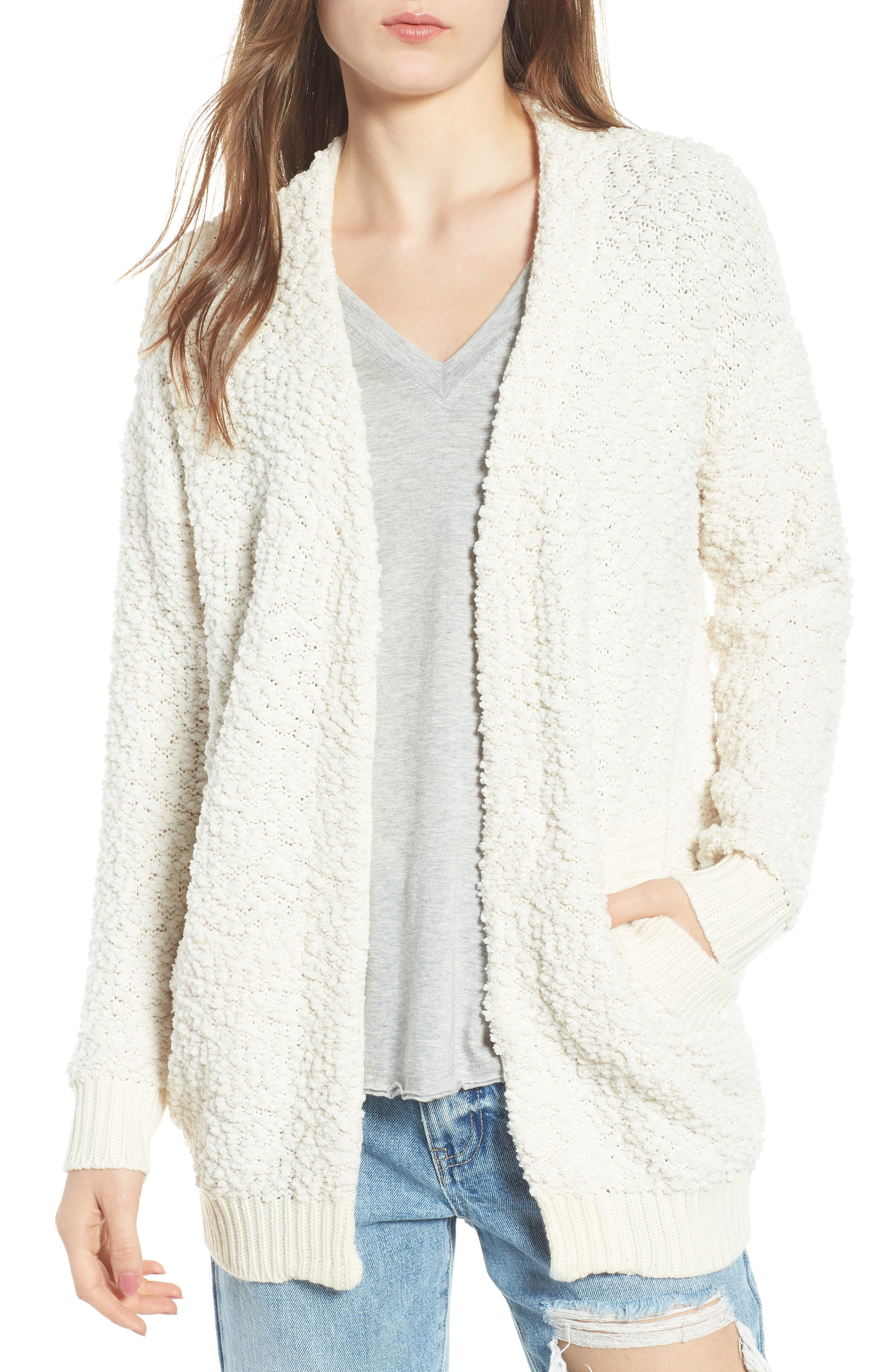 DREAMERS BY DEBUT,                             Nubby Cardigan,                             Main thumbnail 1, color,                             900