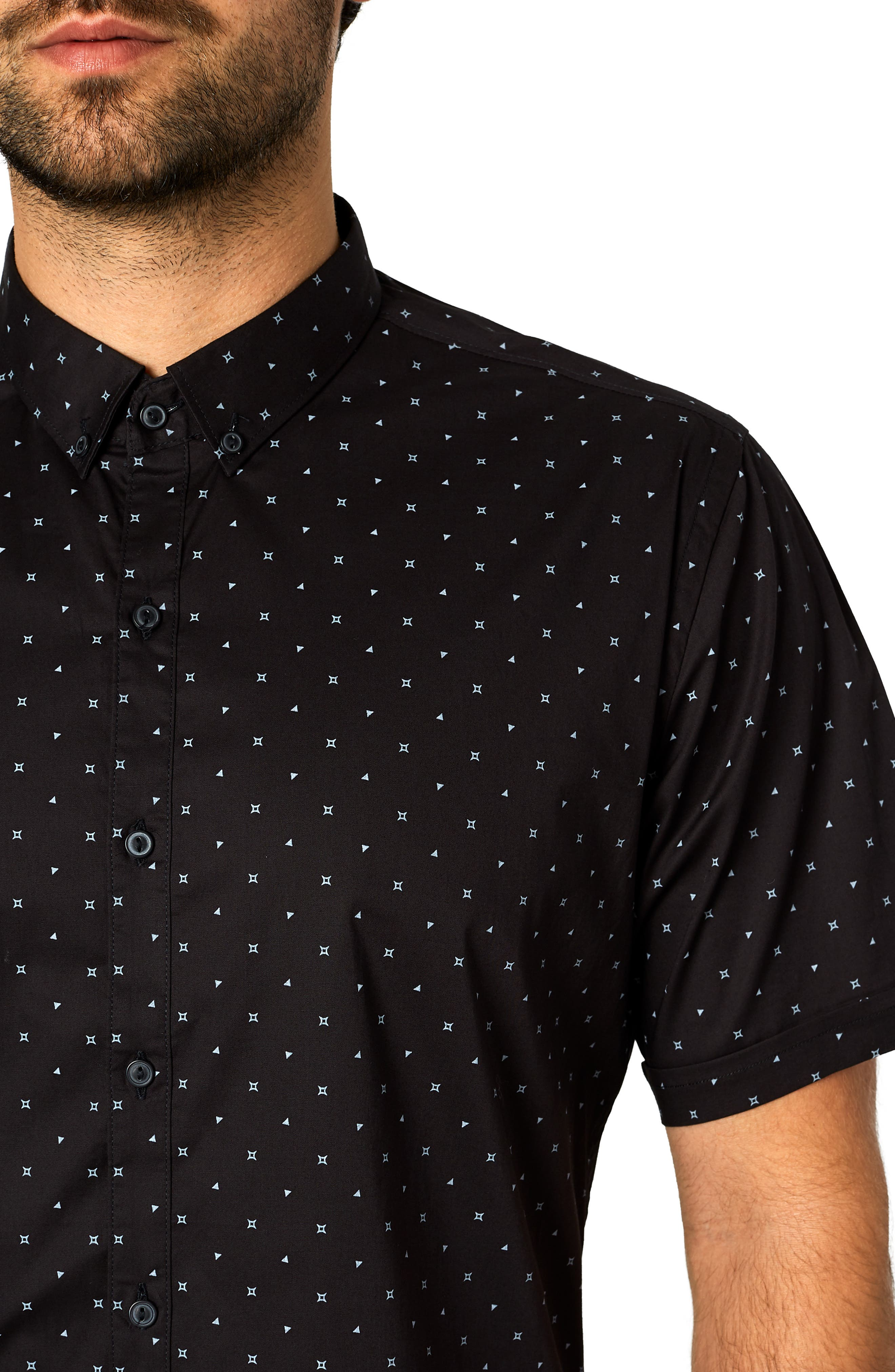 Casual Fiasco Trim Fit Sport Shirt,                             Alternate thumbnail 2, color,                             BLACK