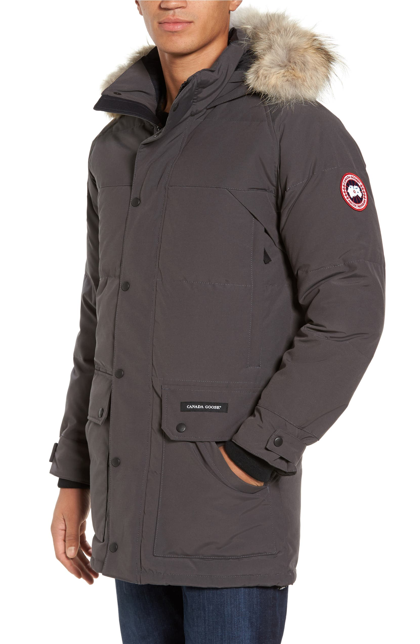 canada goose emory slim fit genuine coyote fur trim parka nordstrom