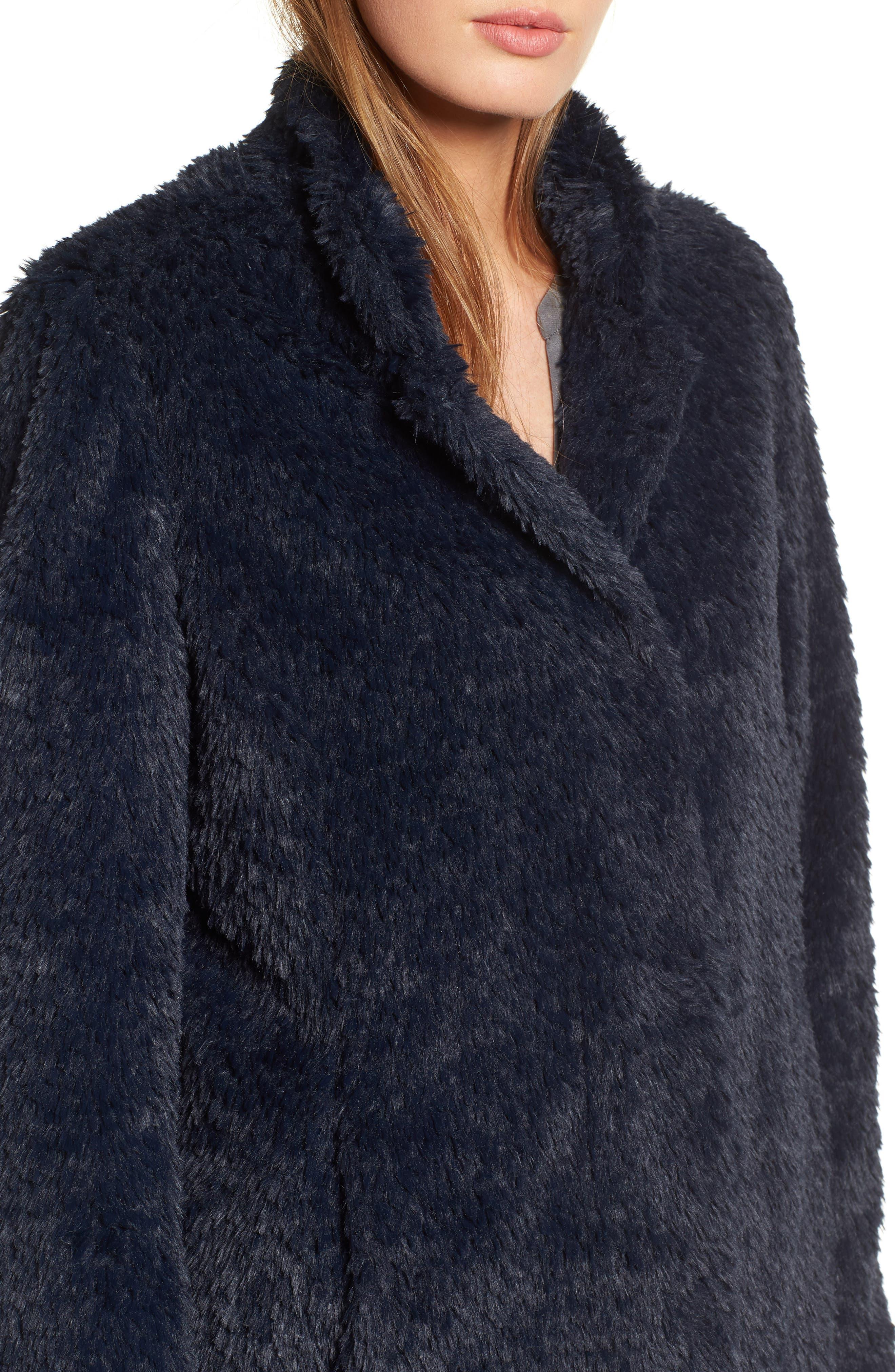 Faux Fur Jacket,                             Alternate thumbnail 21, color,