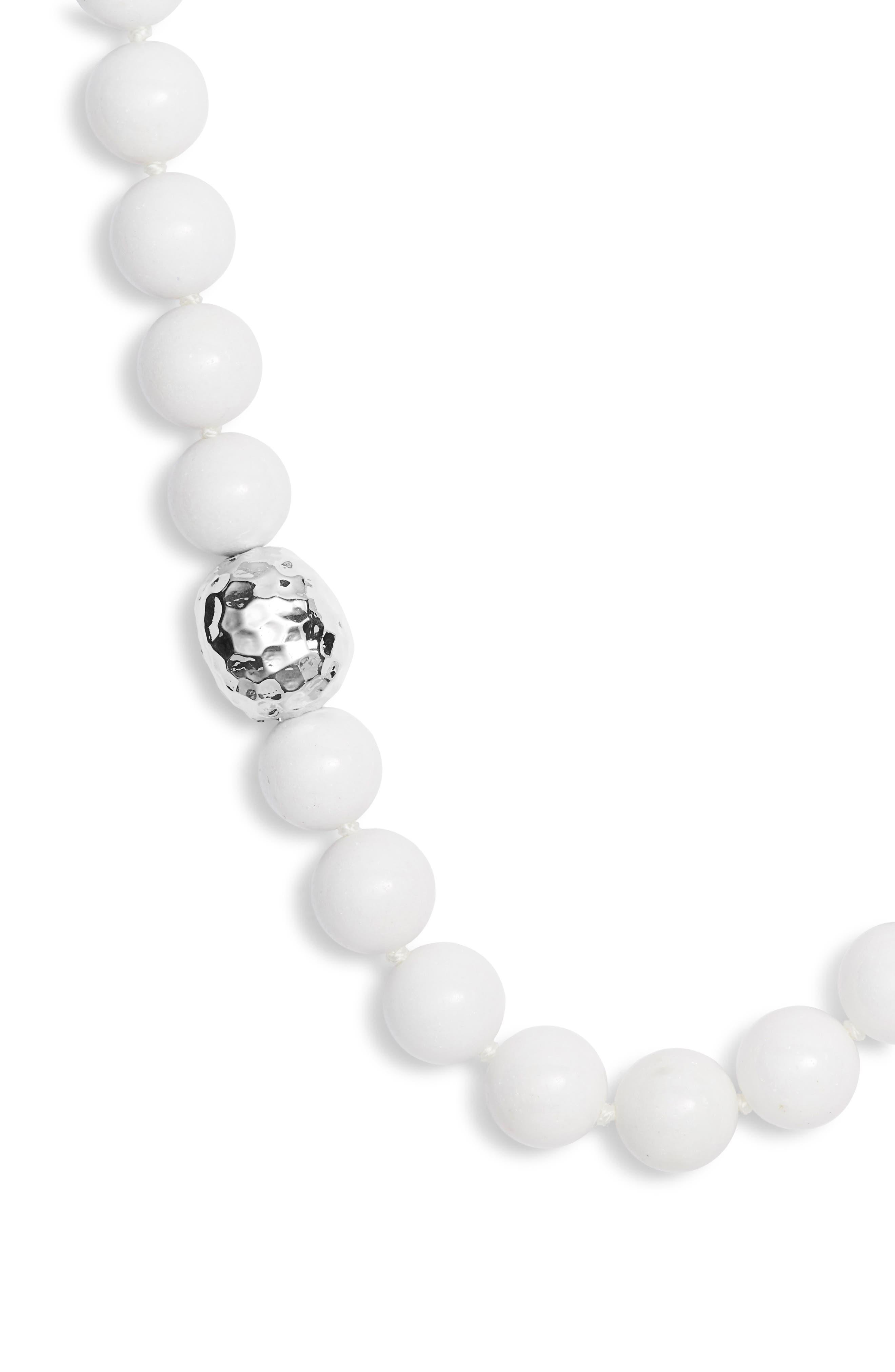 White Mountain Jasper Necklace,                         Main,                         color, WHITE/ SILVER