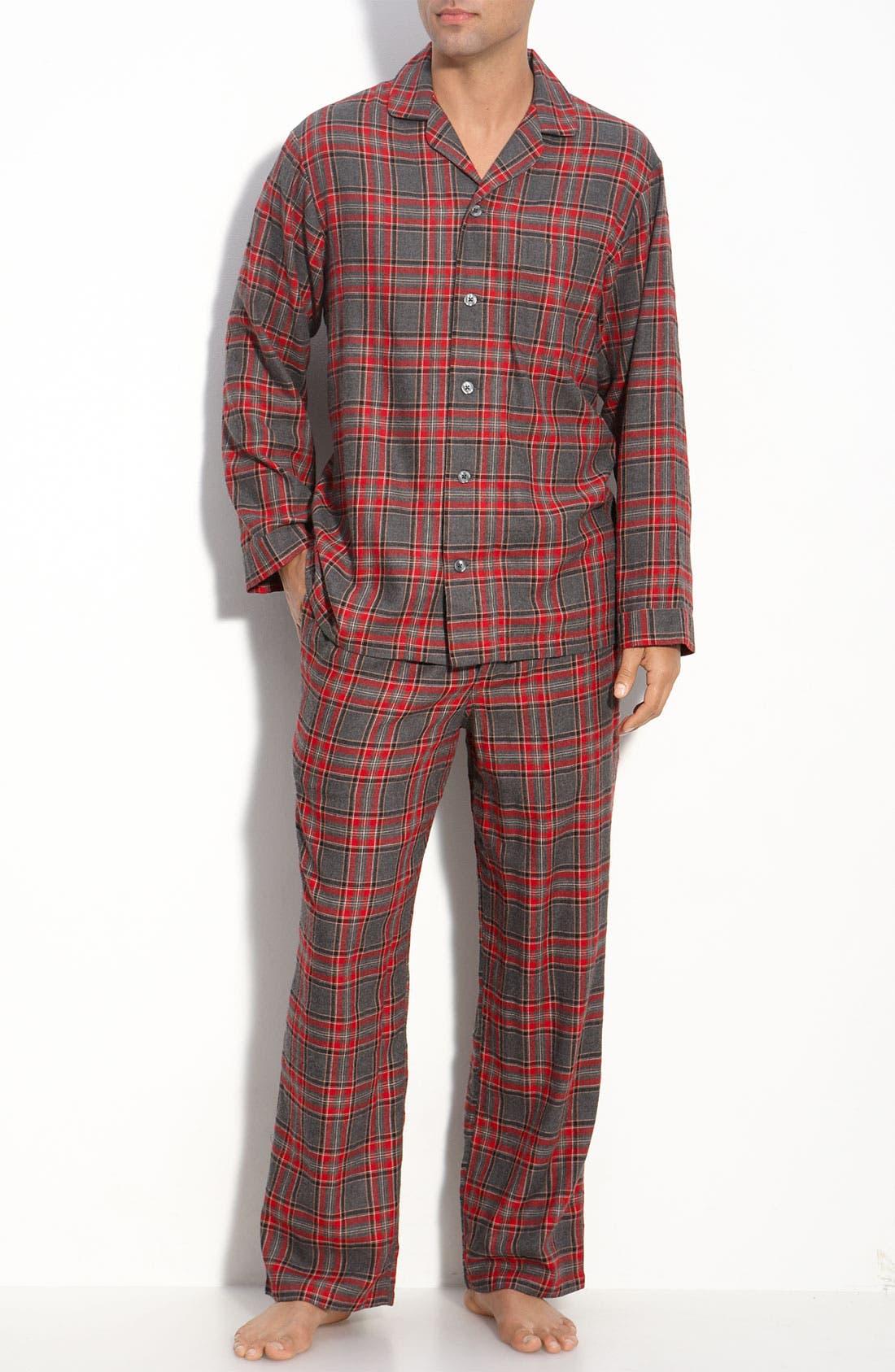 '824' Flannel Pajama Set,                             Main thumbnail 16, color,