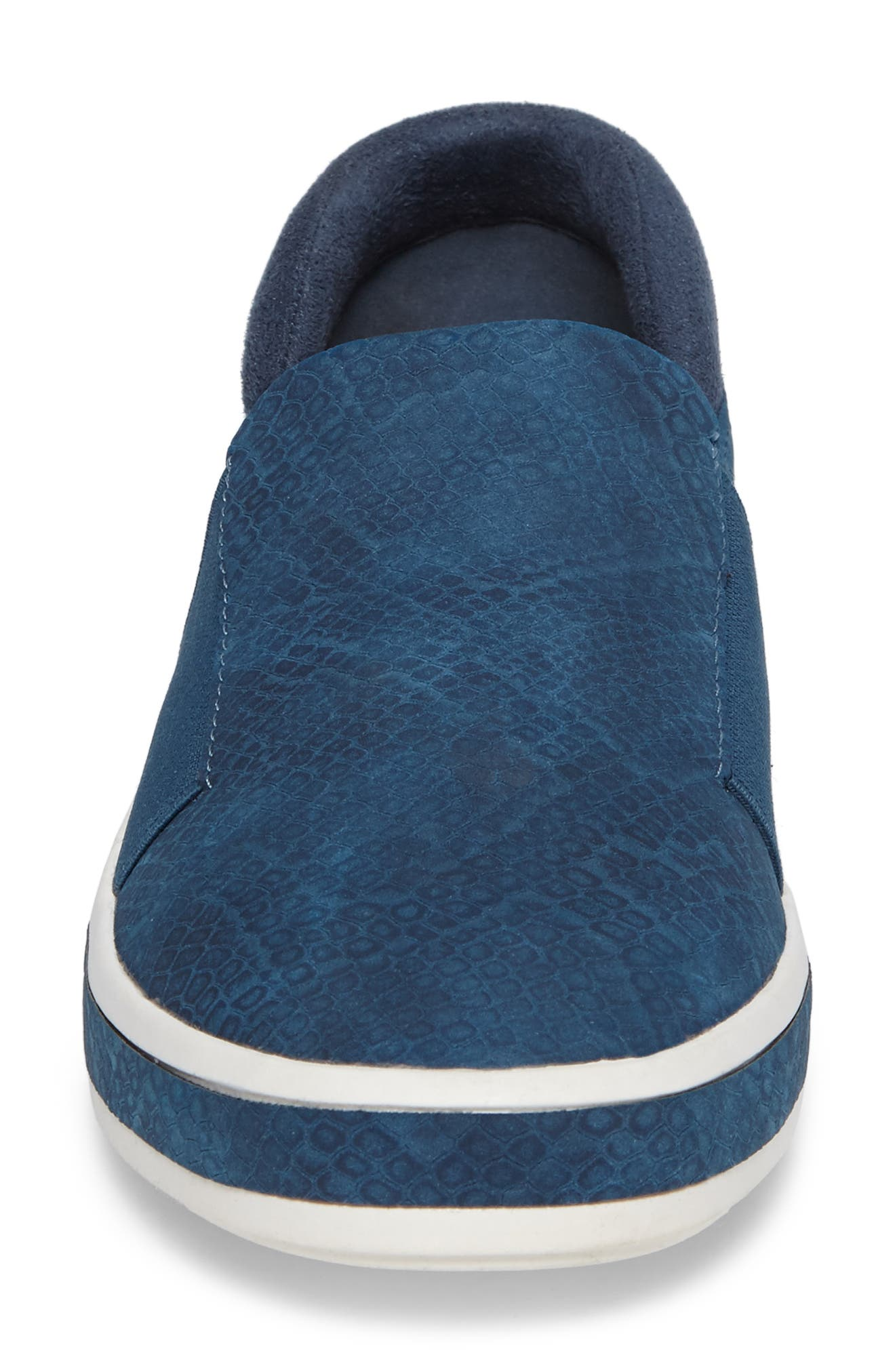 Switch II Slip-On Sneaker,                             Alternate thumbnail 4, color,                             NAVY PRINTED LEATHER