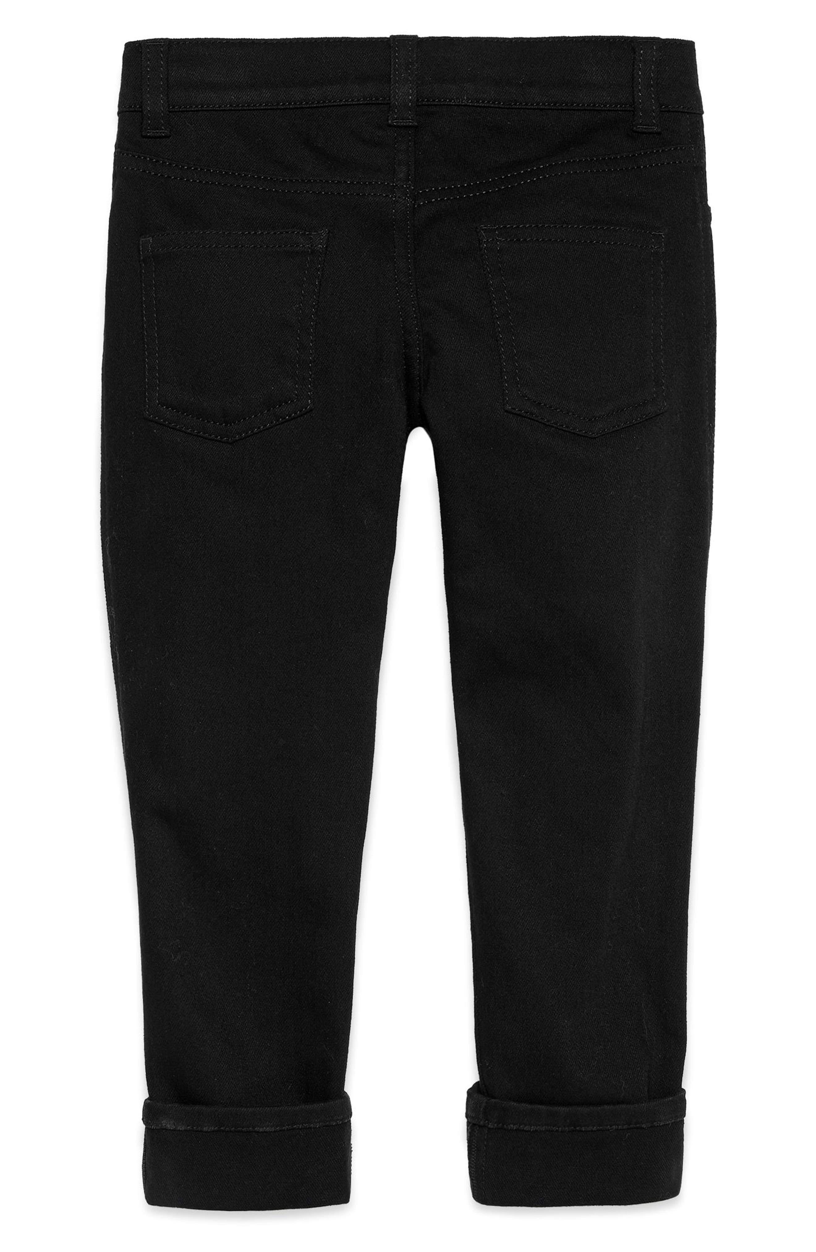 Straight Leg Pants,                             Alternate thumbnail 2, color,                             BLACK/ GREEN/ RED