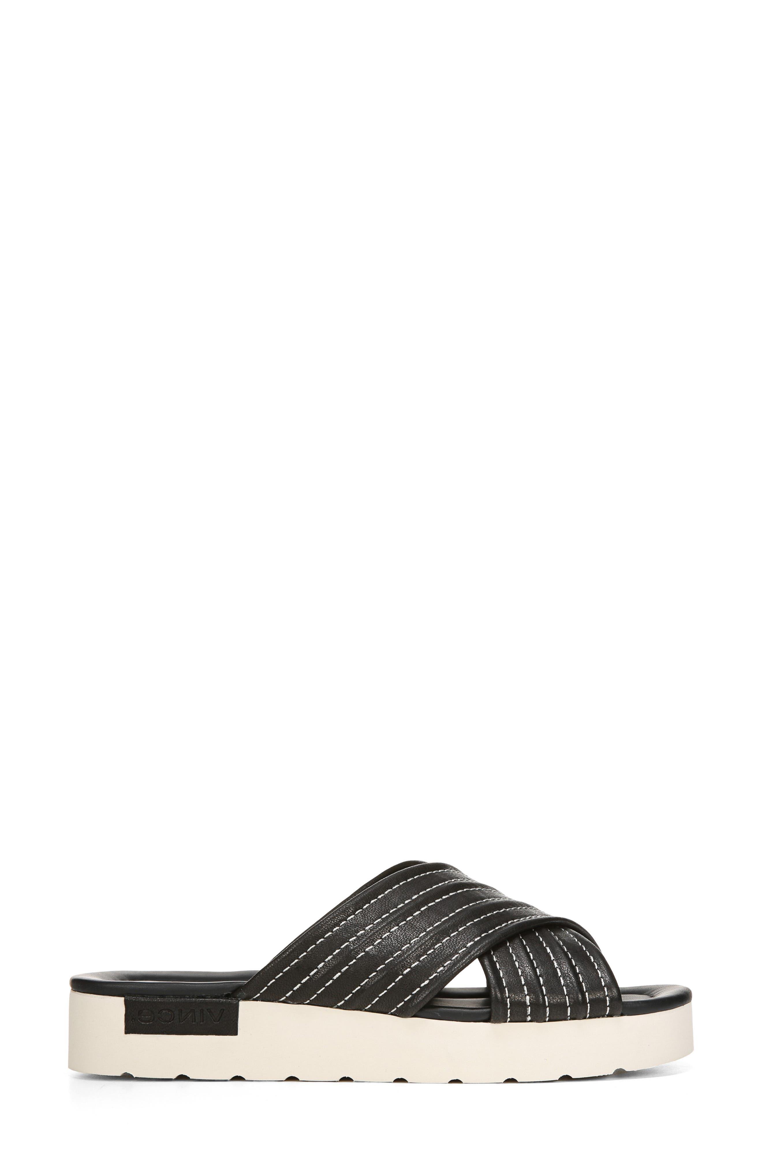 Camden Slide Sandal,                             Alternate thumbnail 3, color,                             BLACK