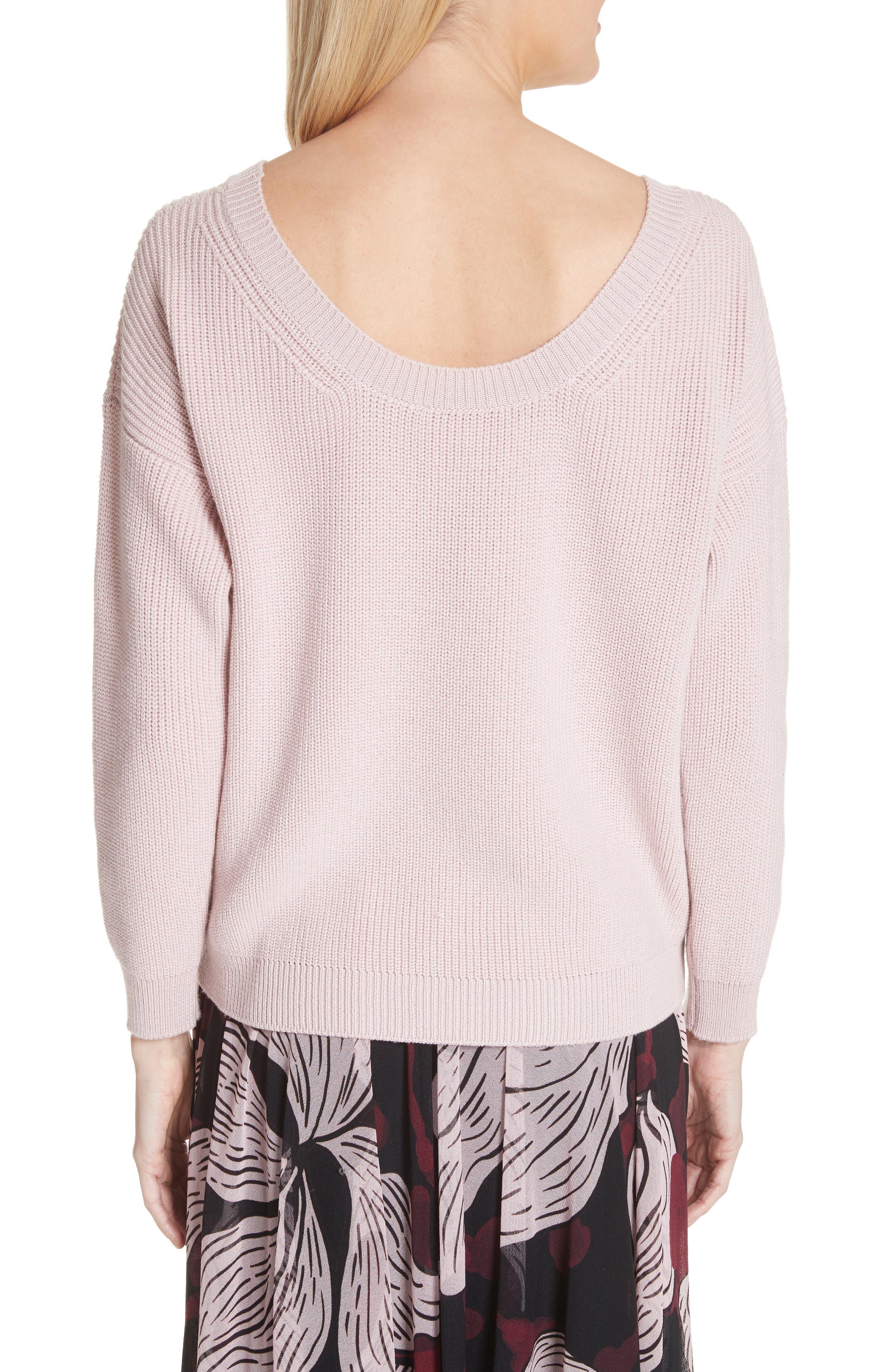V-Neck Wool Sweater,                             Alternate thumbnail 2, color,                             686
