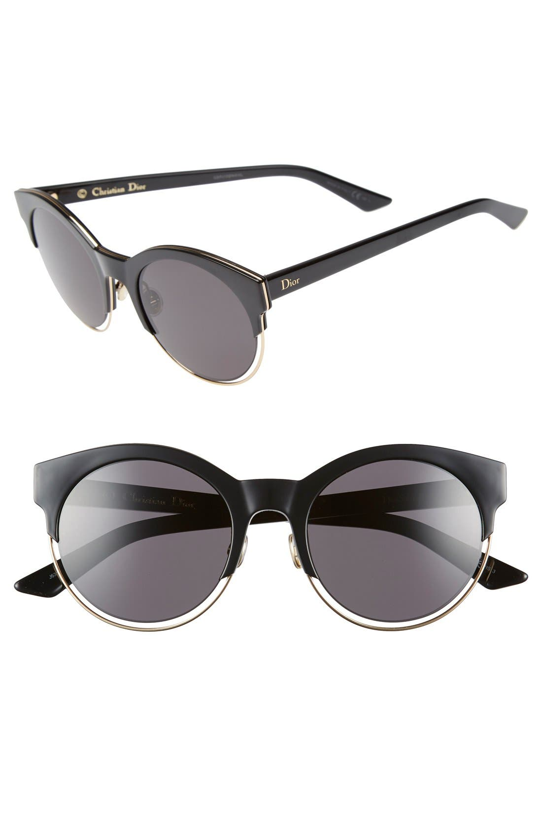 Siderall 1 53mm Round Sunglasses,                             Main thumbnail 1, color,