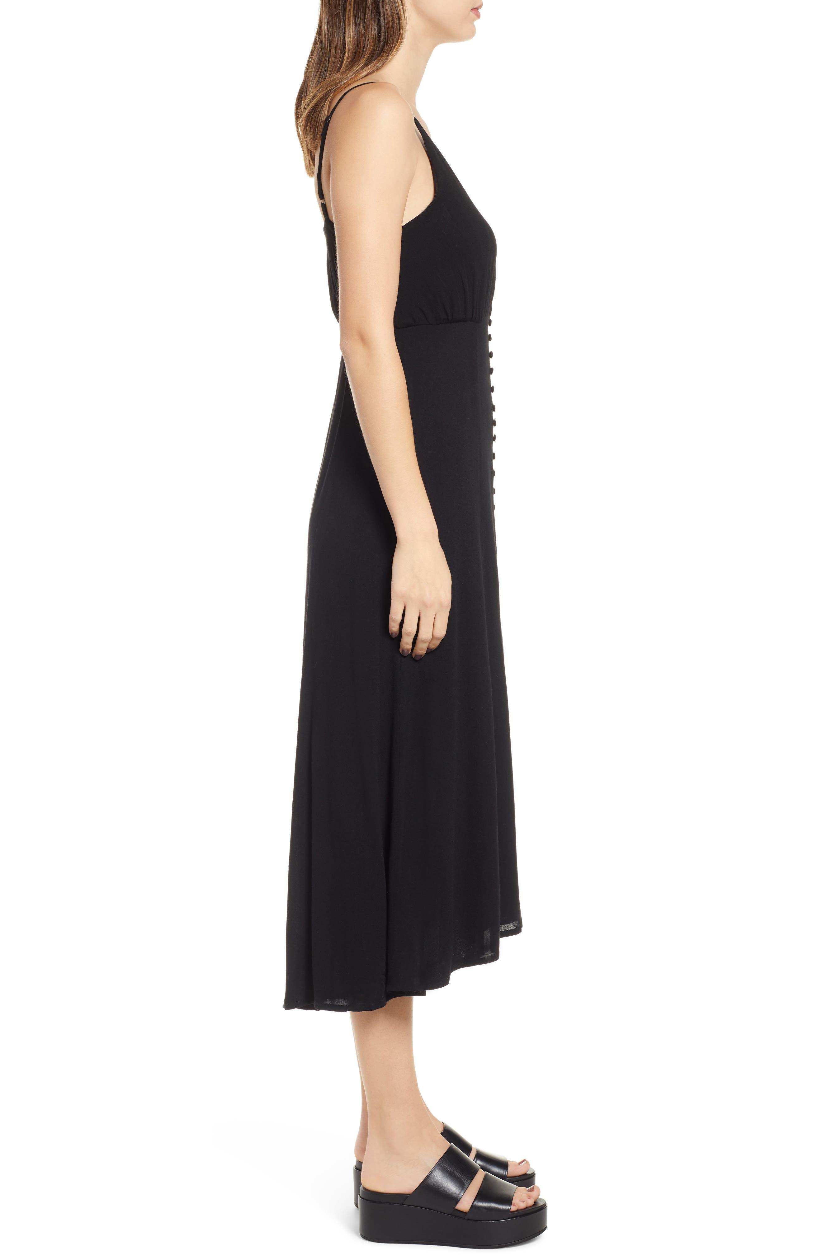 LIRA CLOTHING,                             Cedar Break Midi Dress,                             Alternate thumbnail 3, color,                             BLACK