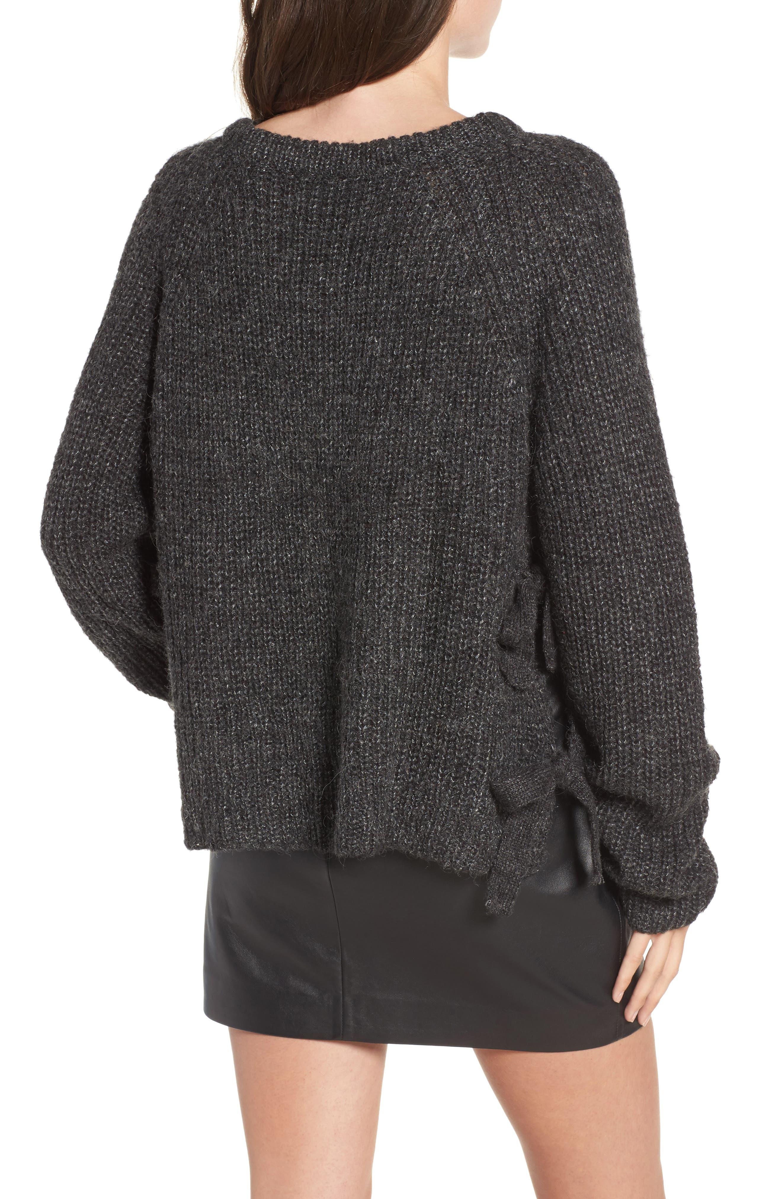 Lexie Side Tie Sweater,                             Alternate thumbnail 2, color,                             020