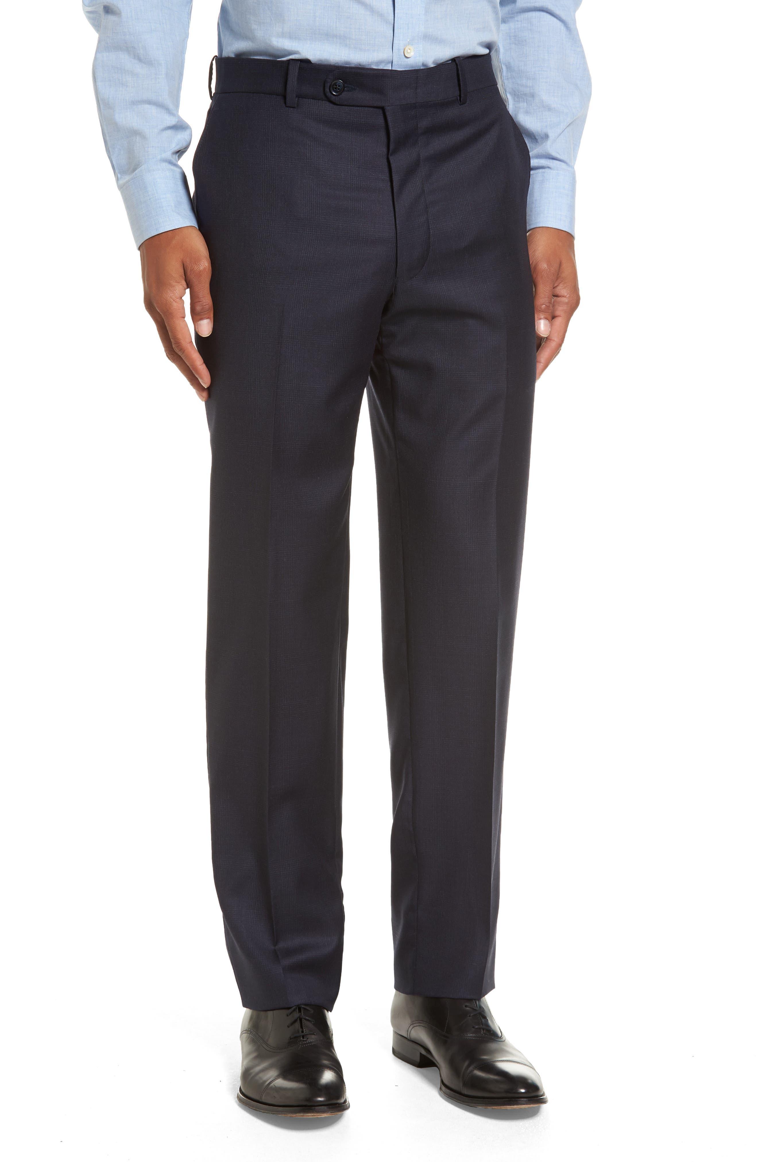 Flynn Classic Fit Plaid Wool Suit,                             Alternate thumbnail 6, color,                             410