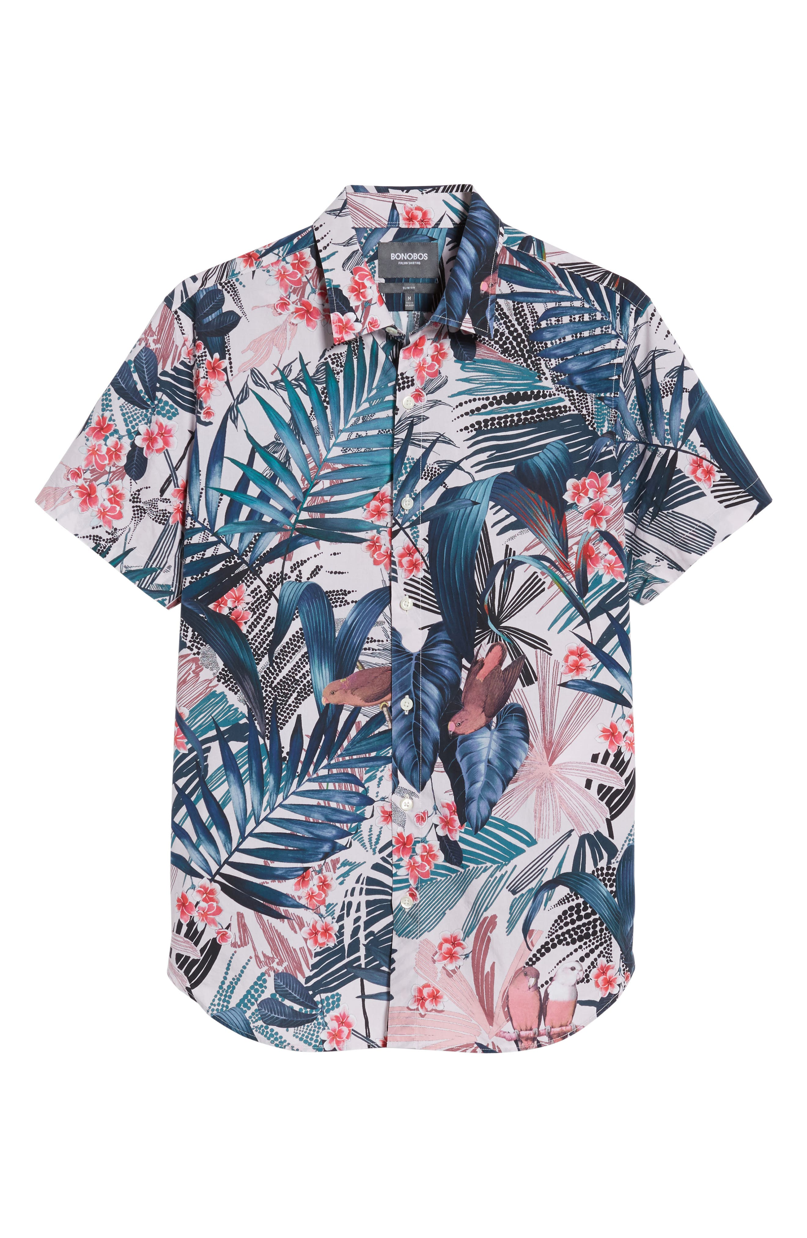 Premium Slim Fit Floral Print Sport Shirt,                             Alternate thumbnail 6, color,                             400