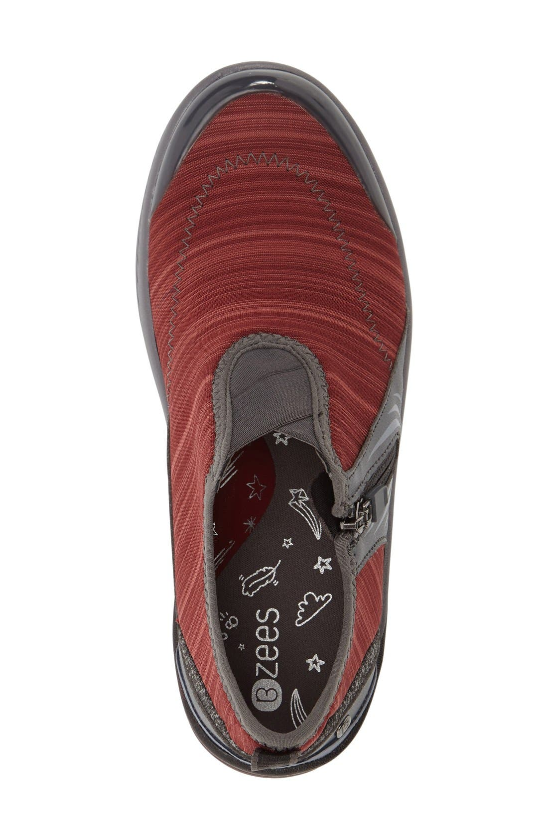 Nova Midi Sneaker,                             Alternate thumbnail 3, color,                             DARK RED LINEAR HEATHER FABRIC
