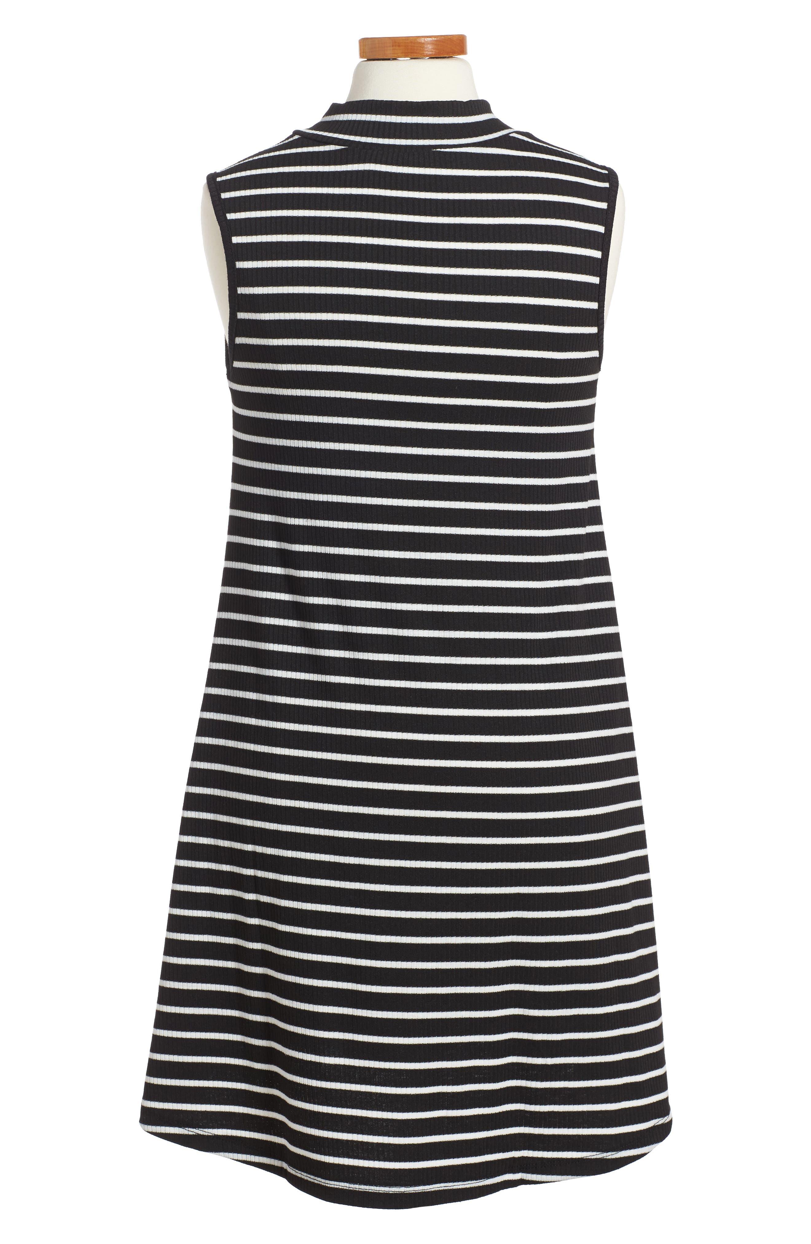 Phyllis Stripe Mock Neck Dress,                             Alternate thumbnail 5, color,