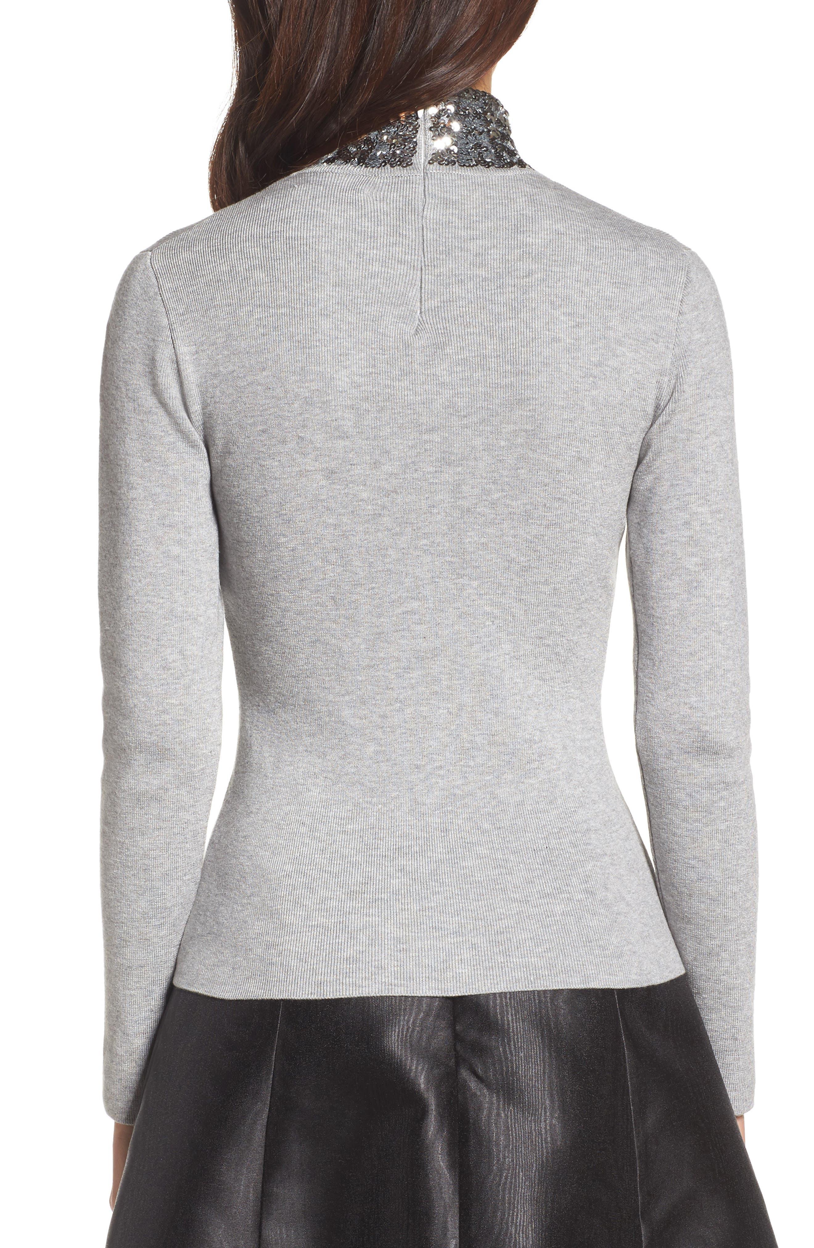 Sequin Mock Neck Sweater,                             Alternate thumbnail 2, color,                             030