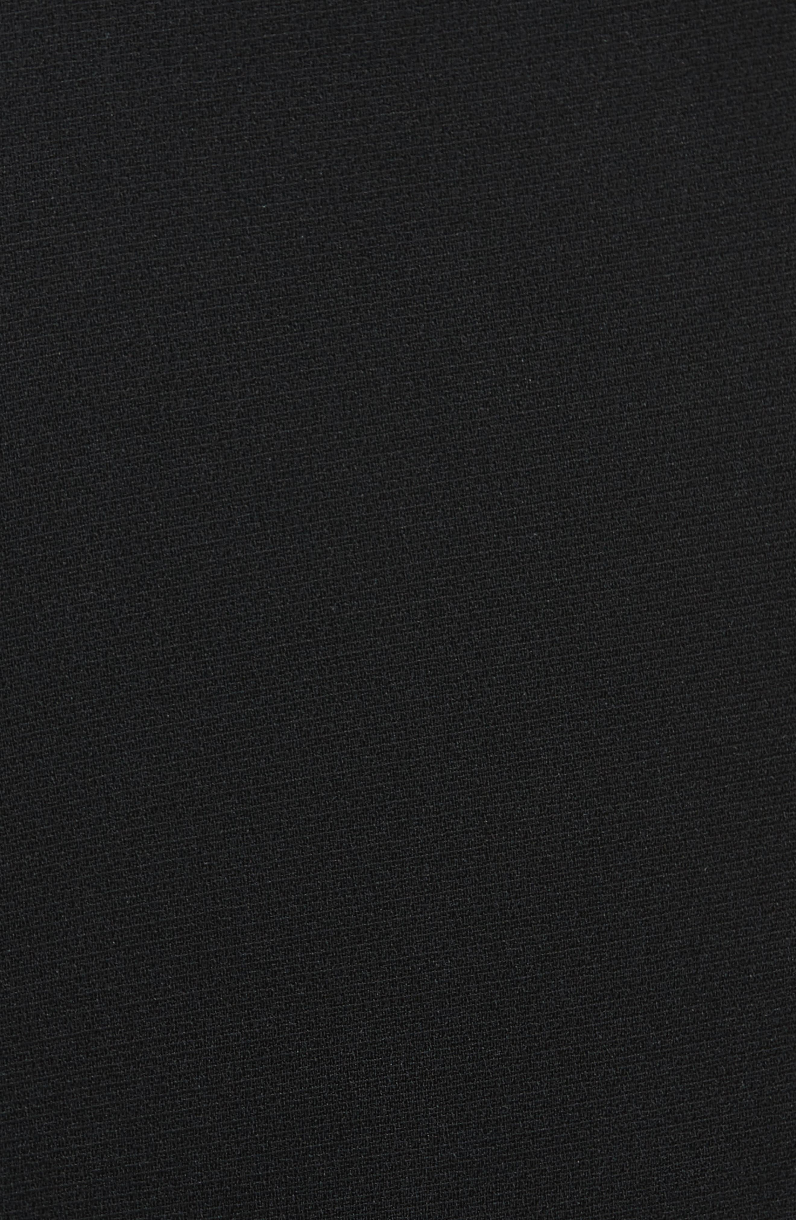 Crepe Cigarette Pants,                             Alternate thumbnail 5, color,                             BLACK