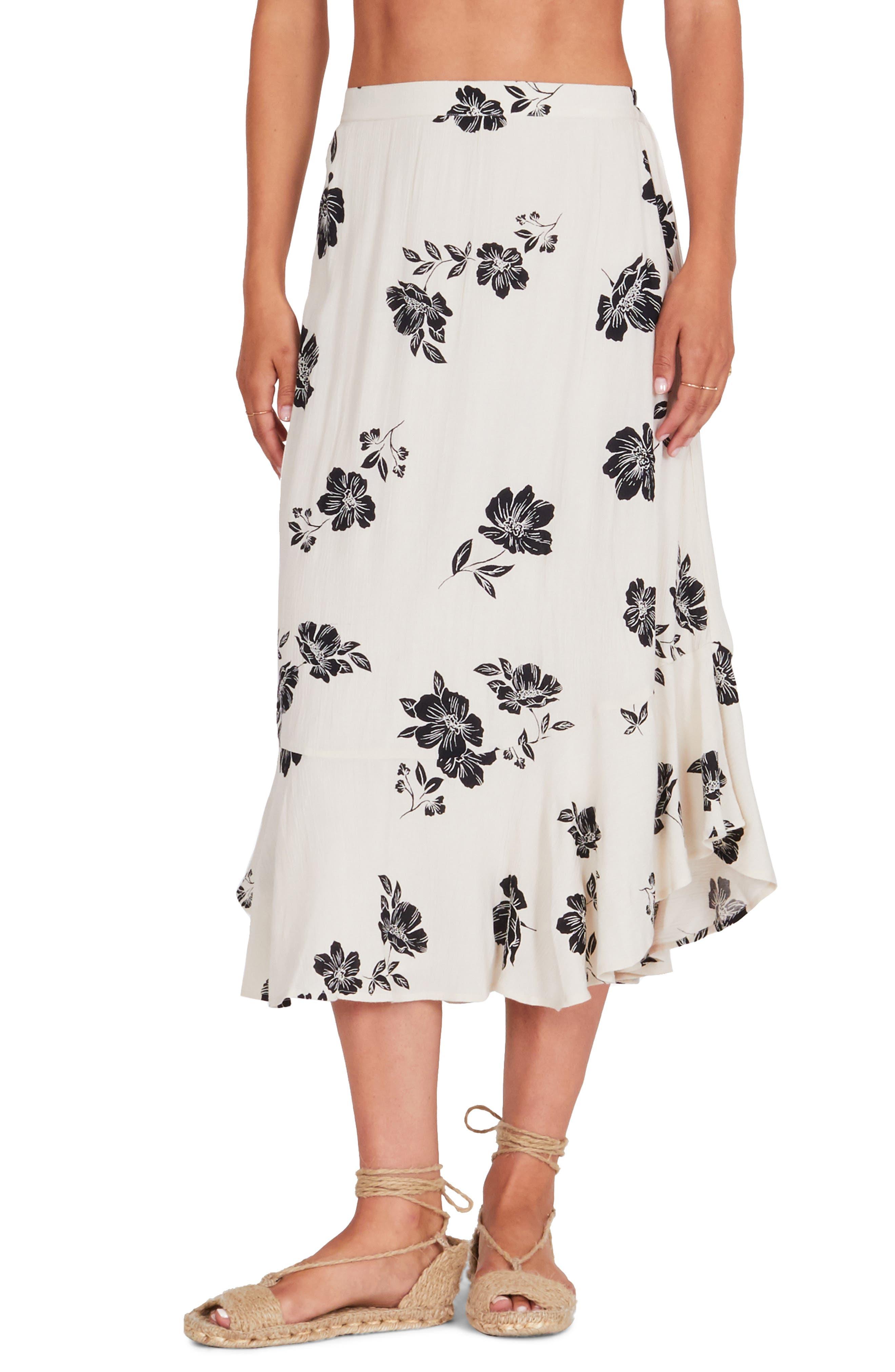 Amuse Society Jardines Del Ray Midi Skirt, White
