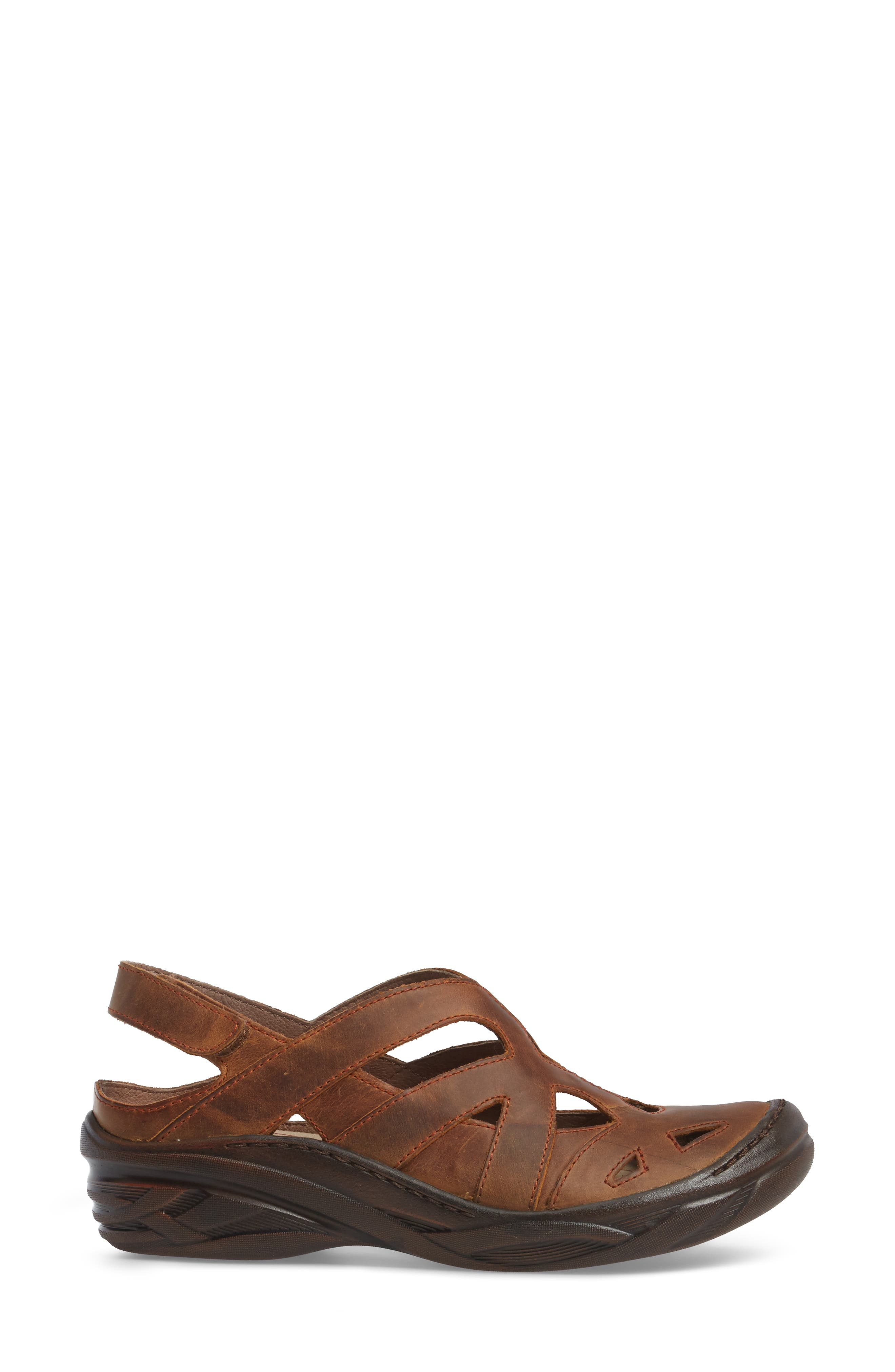 BIONICA,                             Maclean Sandal,                             Alternate thumbnail 3, color,                             ALMOND TAN LEATHER