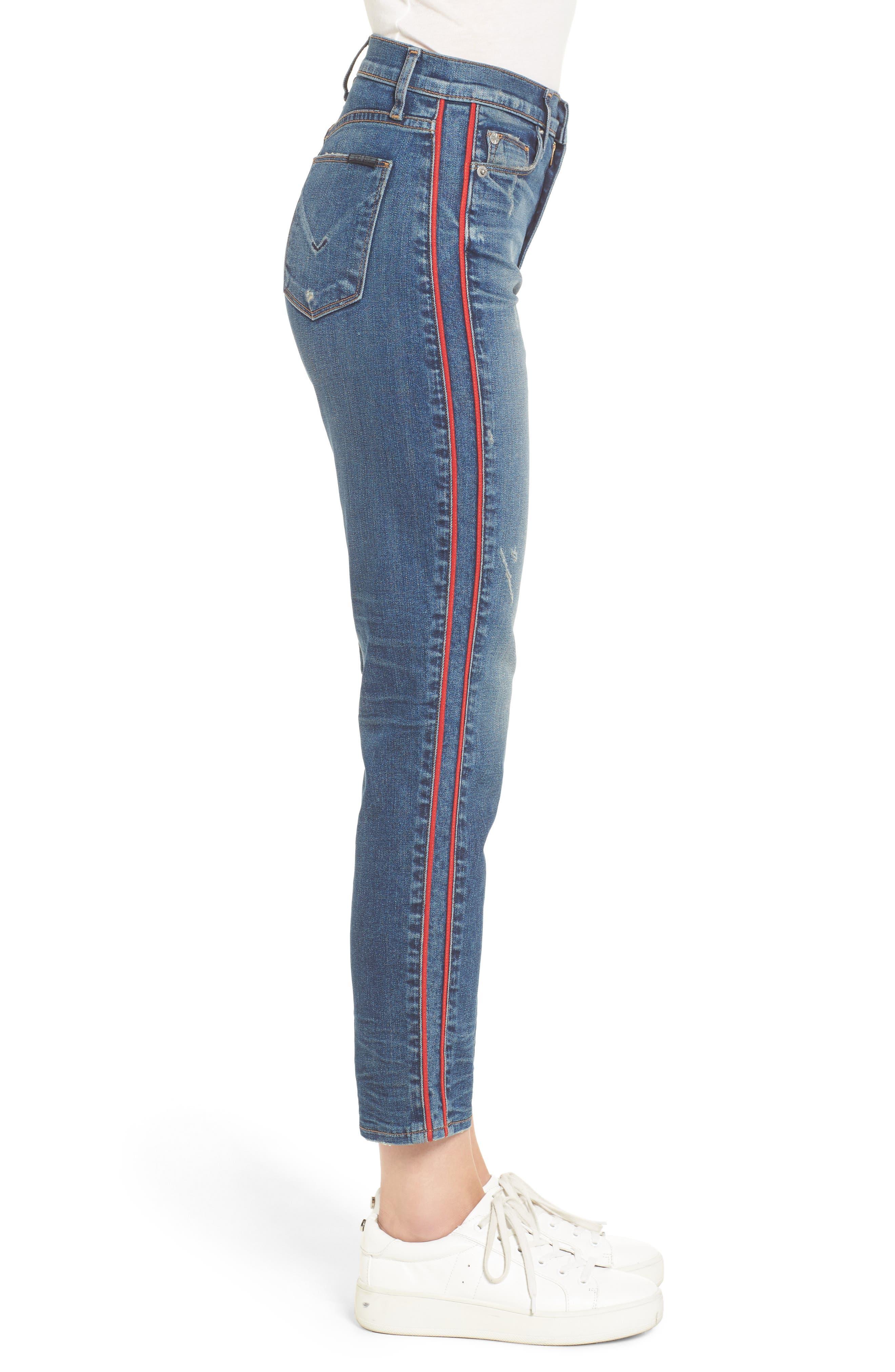 Zoeey High Waist Crop Jeans,                             Alternate thumbnail 3, color,                             460