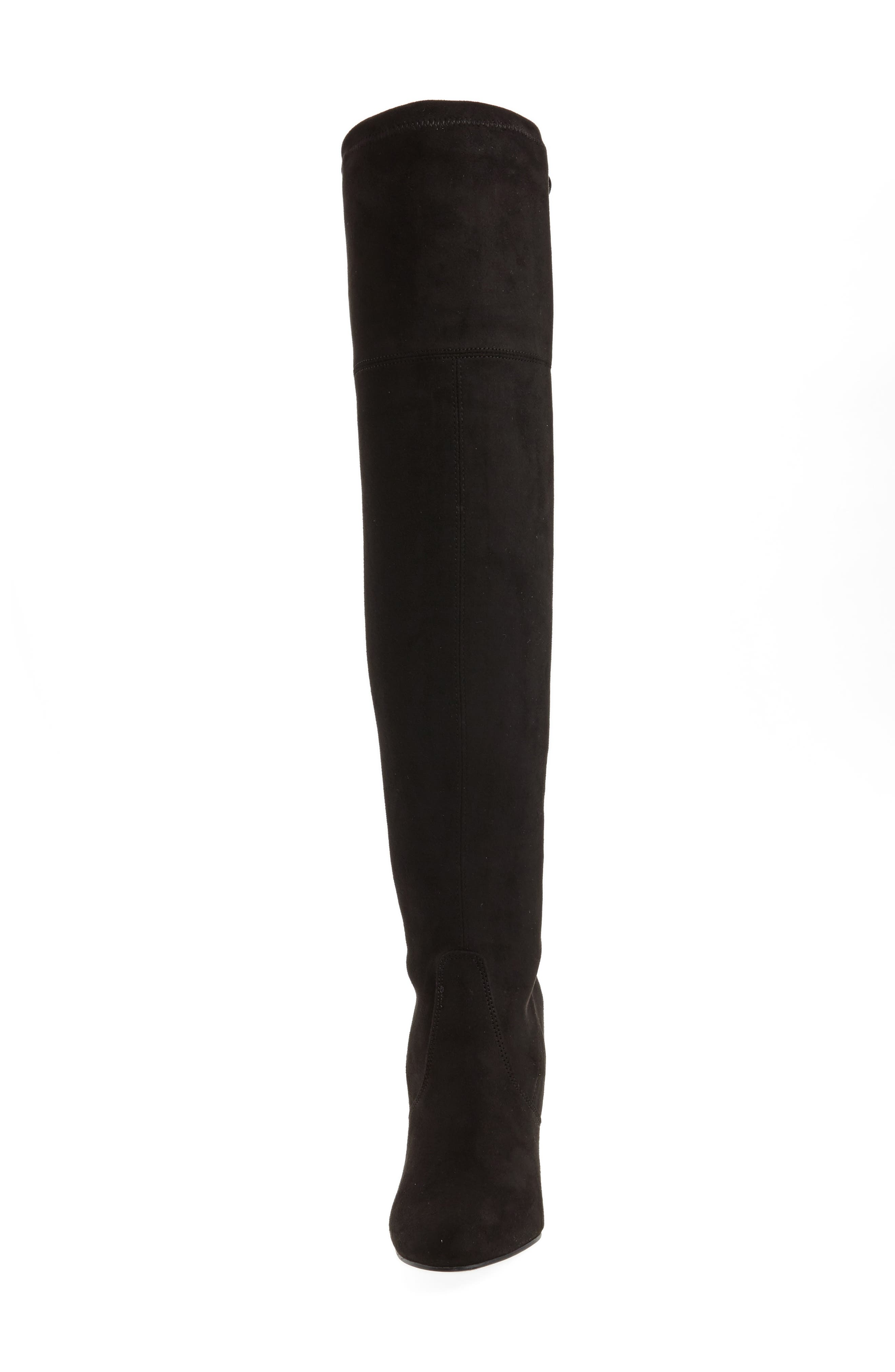 Niela Stretchy Over the Knee Boot,                             Alternate thumbnail 4, color,                             001
