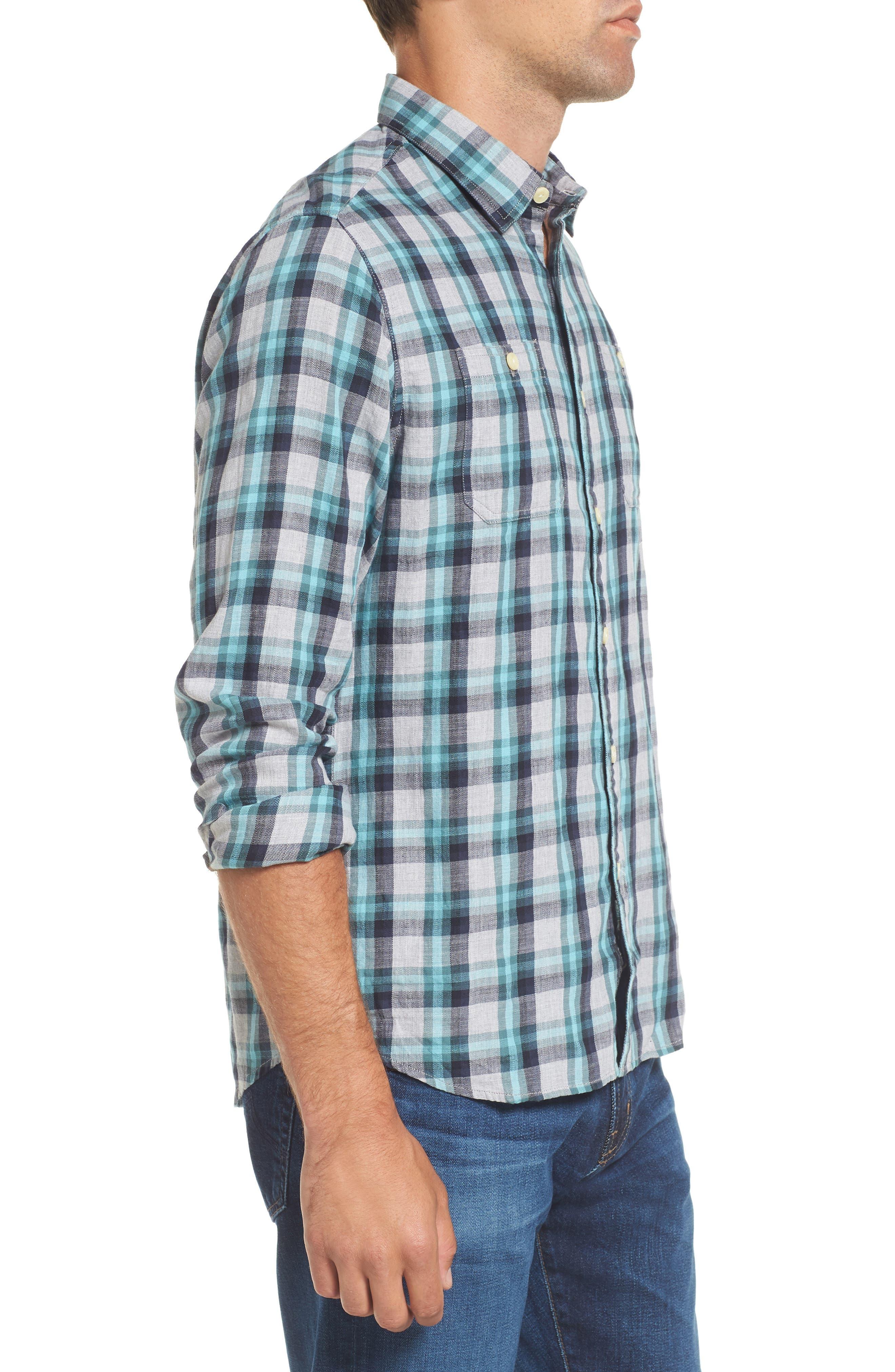 Trevor Modern Fit Slub Twill Sport Shirt,                             Alternate thumbnail 3, color,