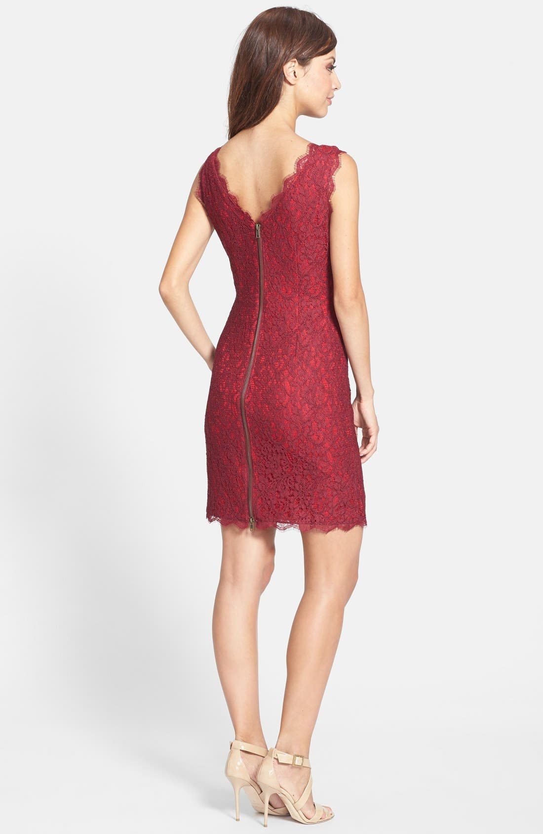 Boatneck Lace Sheath Dress,                             Alternate thumbnail 55, color,