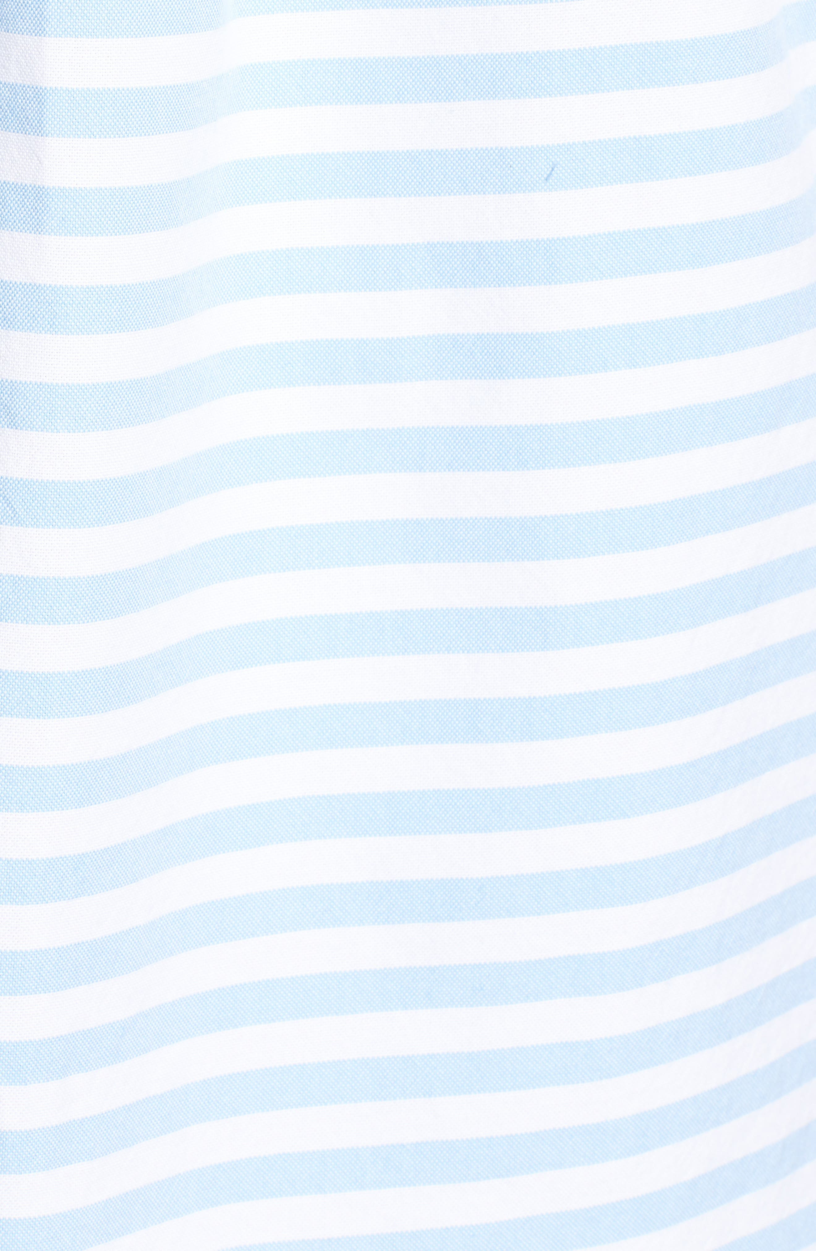 Sea Mist Stretch Short Sleeve Sport Shirt,                             Alternate thumbnail 5, color,                             484