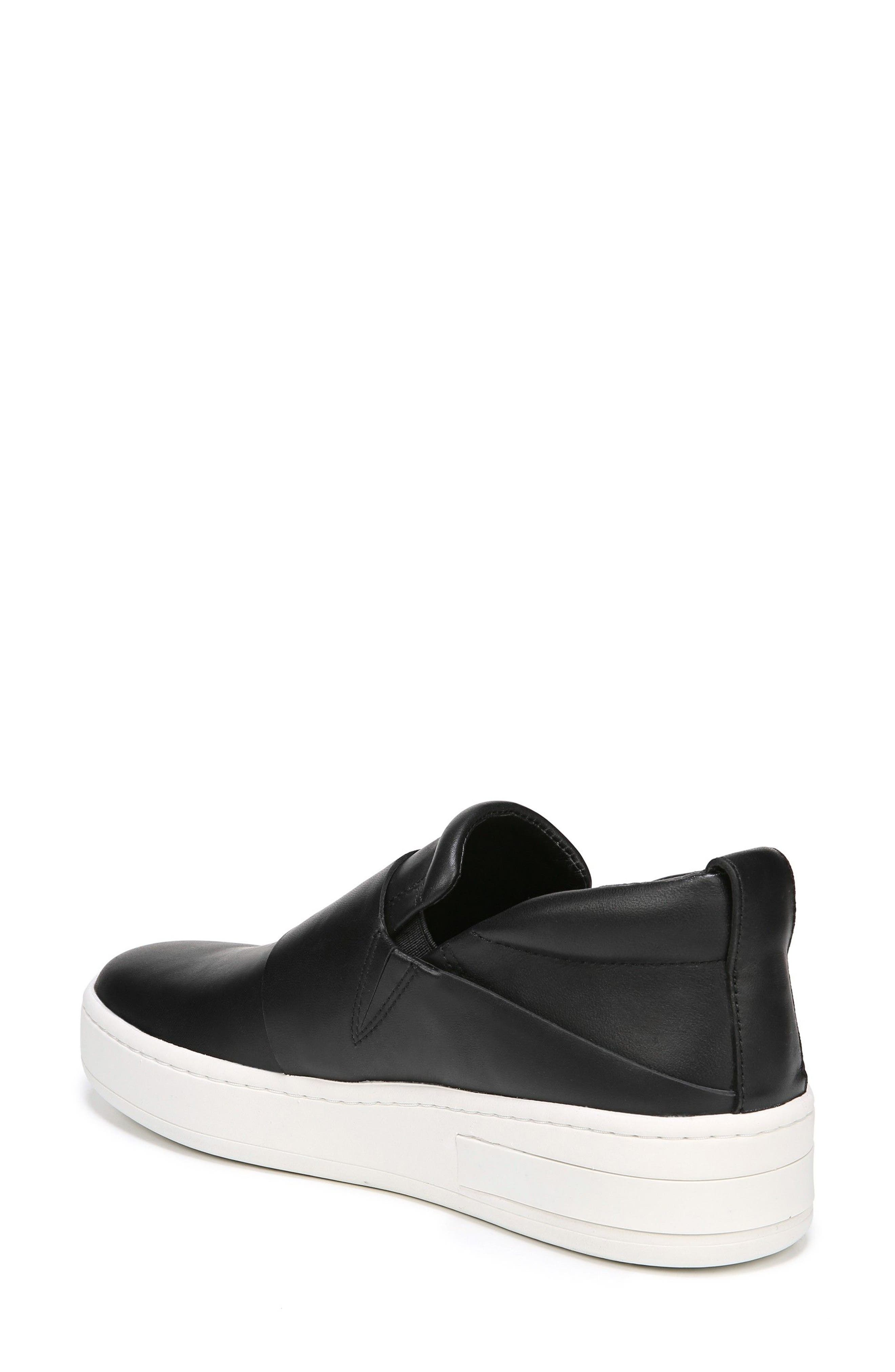 Ryder Slip-On Sneaker,                             Alternate thumbnail 2, color,                             BLACK LEATHER
