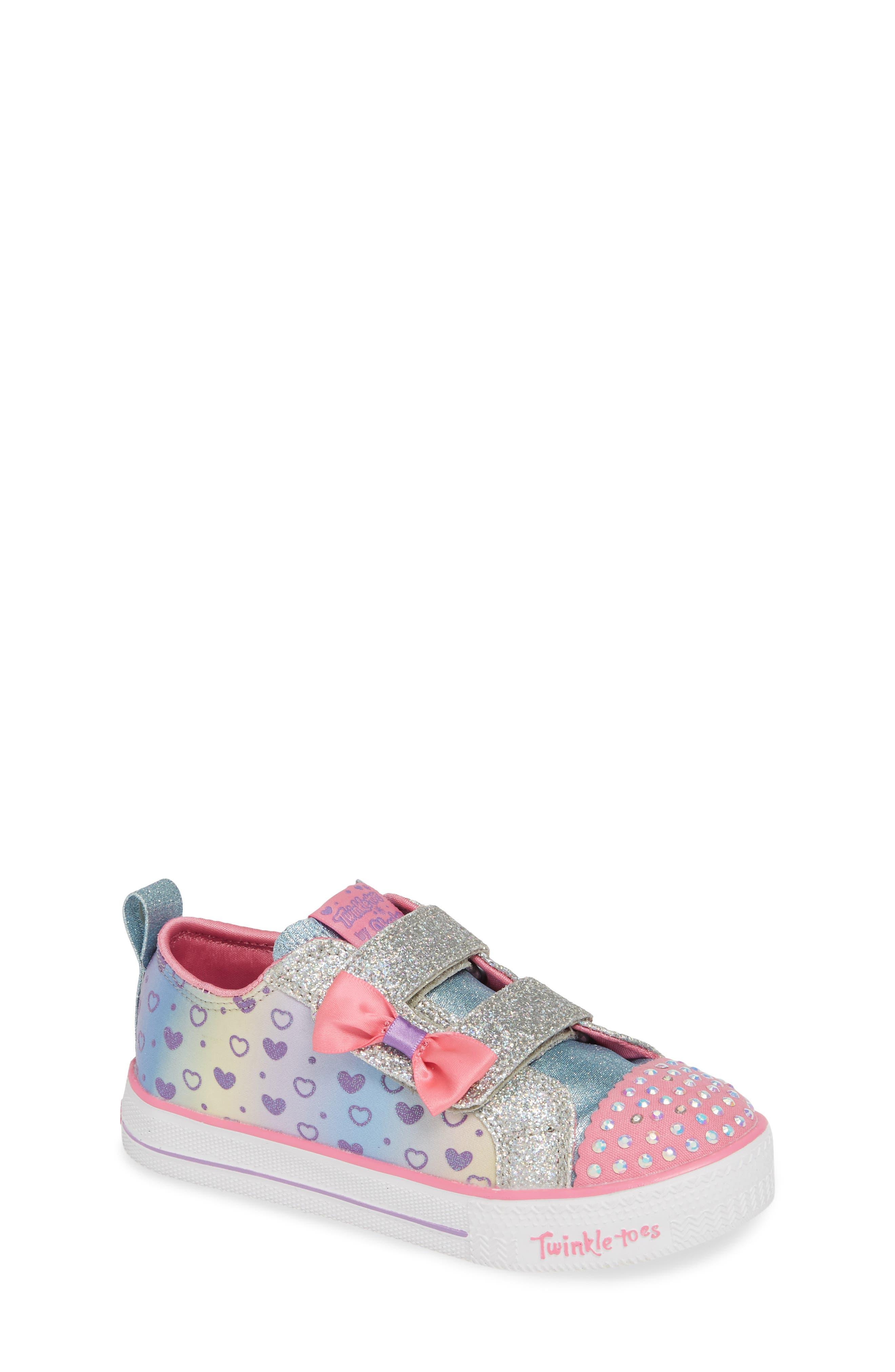 Shuffle Lite Glitter Sneaker, Main, color, SILVER/ MULTI