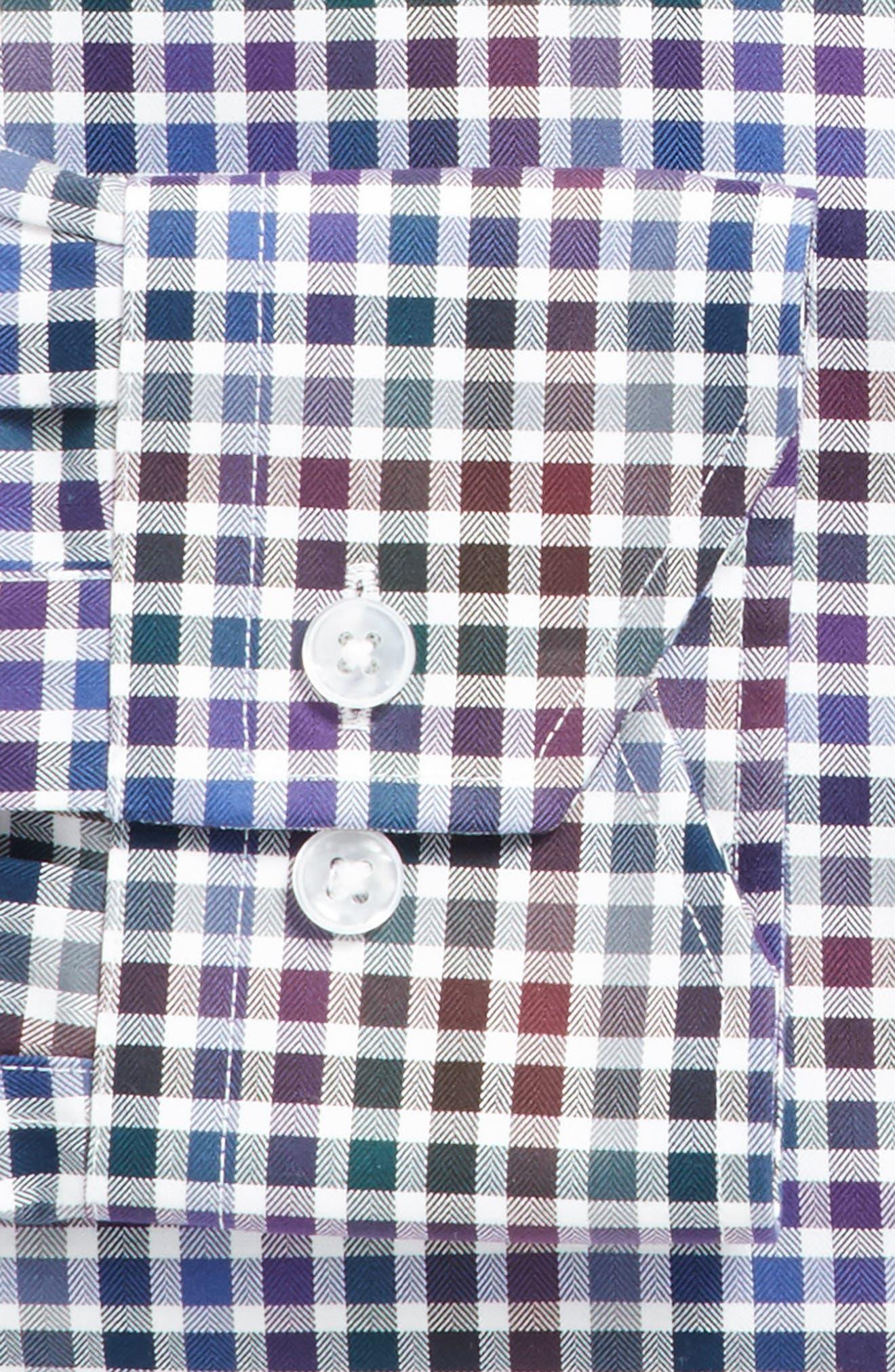 Trim Fit Check Dress Shirt,                             Alternate thumbnail 3, color,                             510