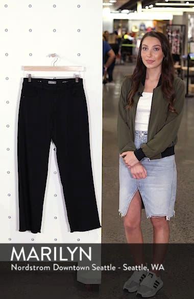Hepburn High Waist Raw Hem Wide Leg Jeans, sales video thumbnail