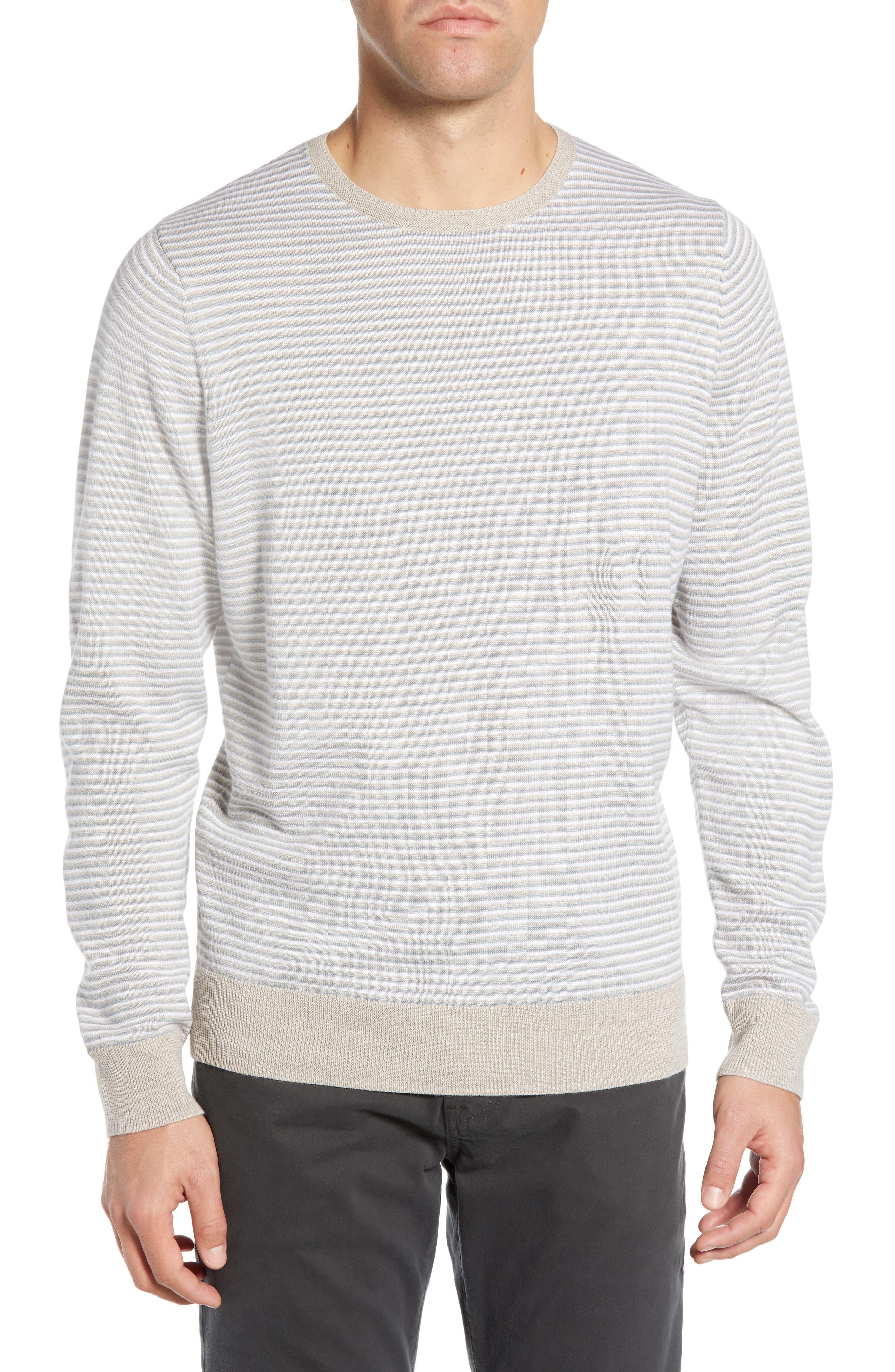 Nordstrom Shop Feeder Stripe Sweater, Brown