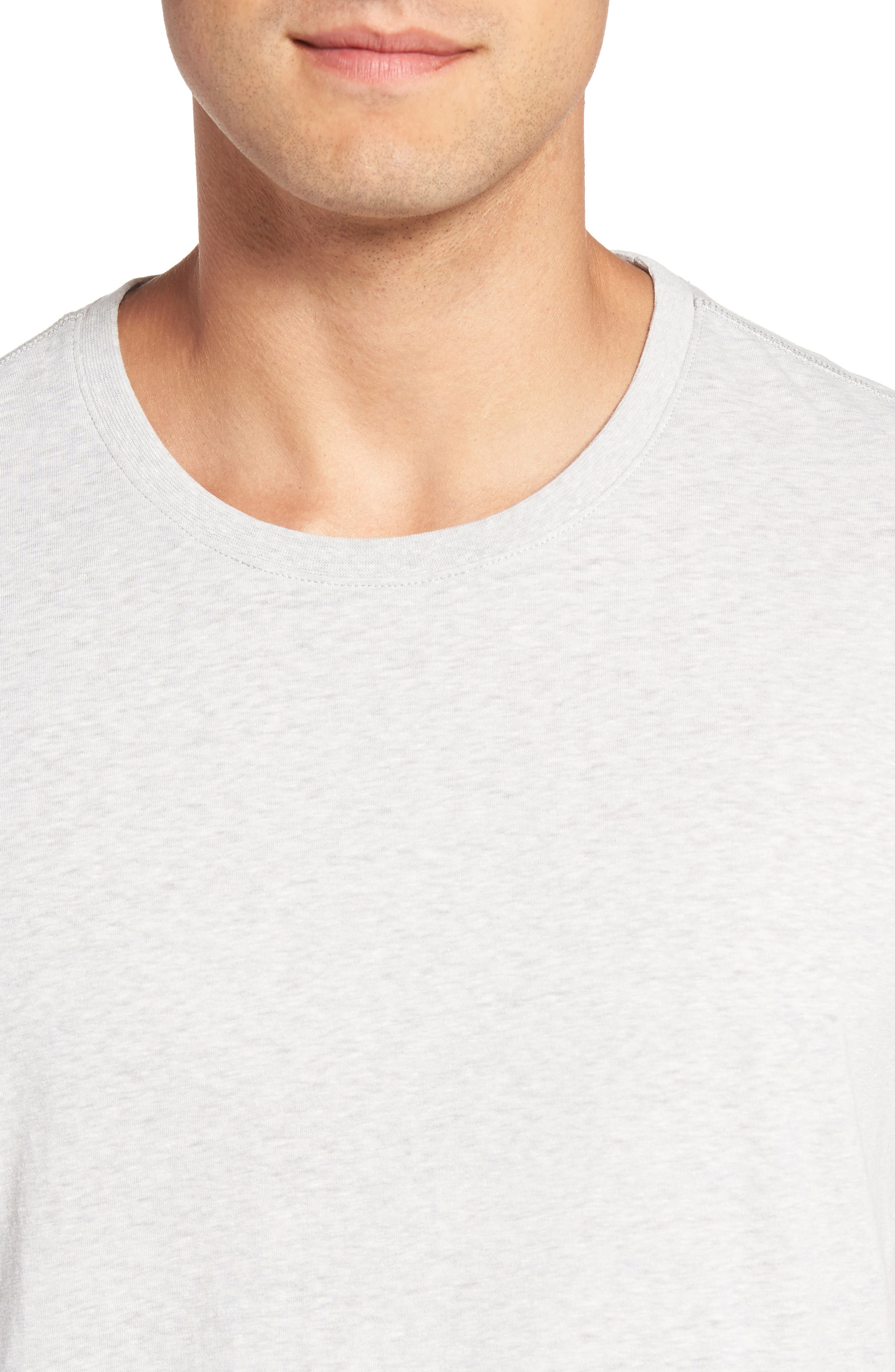Recycled Cotton Blend T-Shirt,                             Alternate thumbnail 4, color,                             020