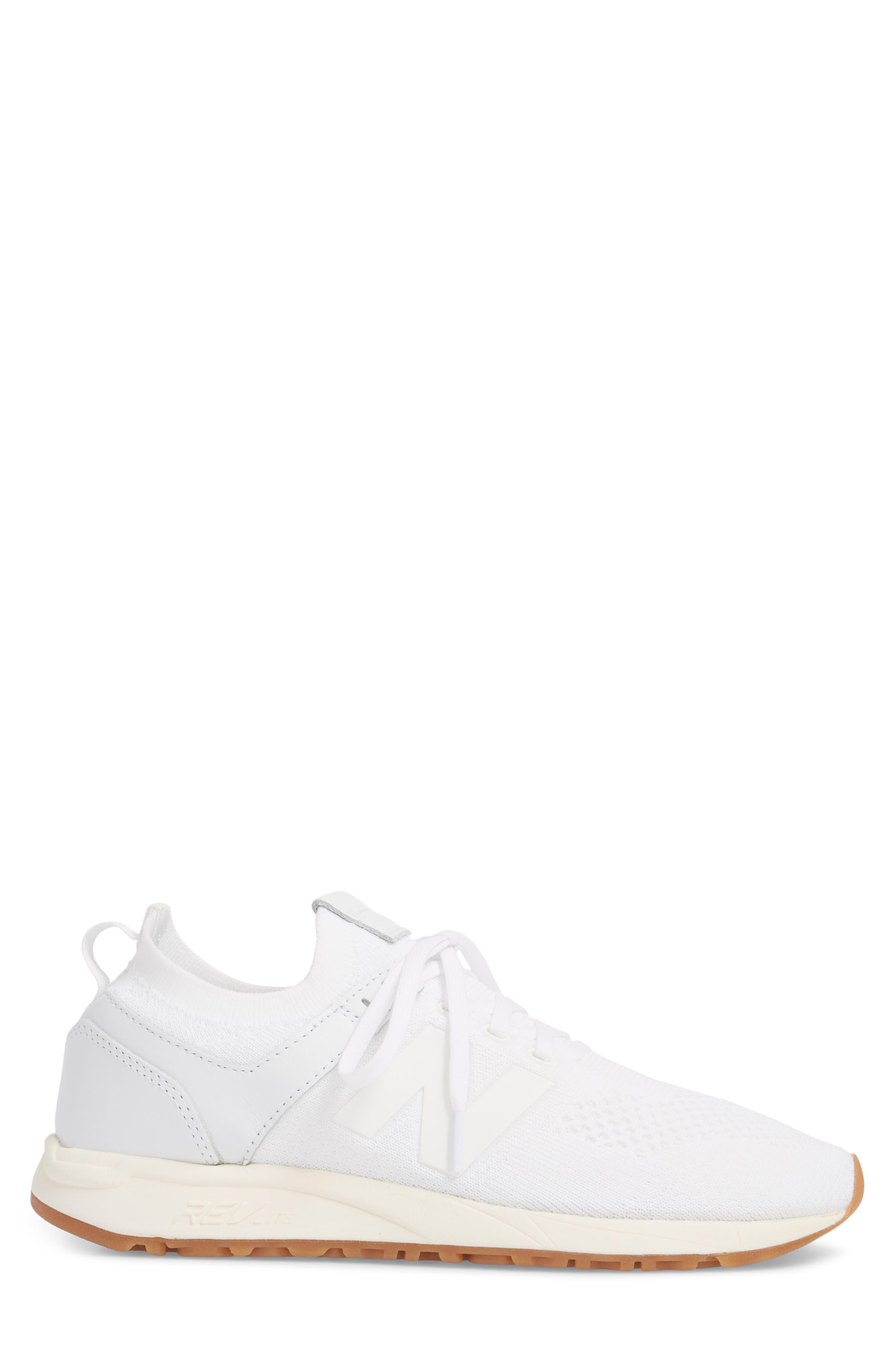 247 Decon Knit Sneaker,                             Alternate thumbnail 3, color,                             WHITE