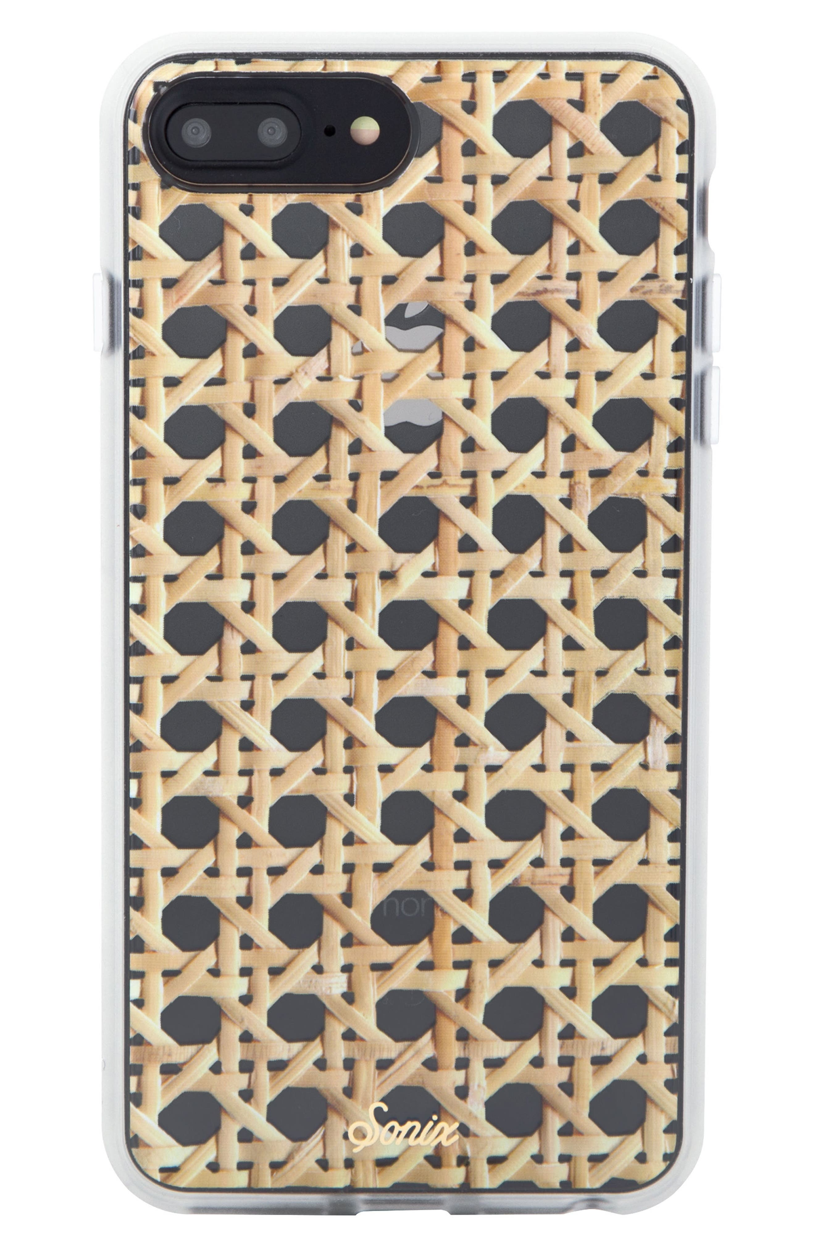 Sonic Rattan Print iPhone 6/6s/7/8 & 6/6s/7/8 Plus Case,                             Main thumbnail 1, color,                             TAN