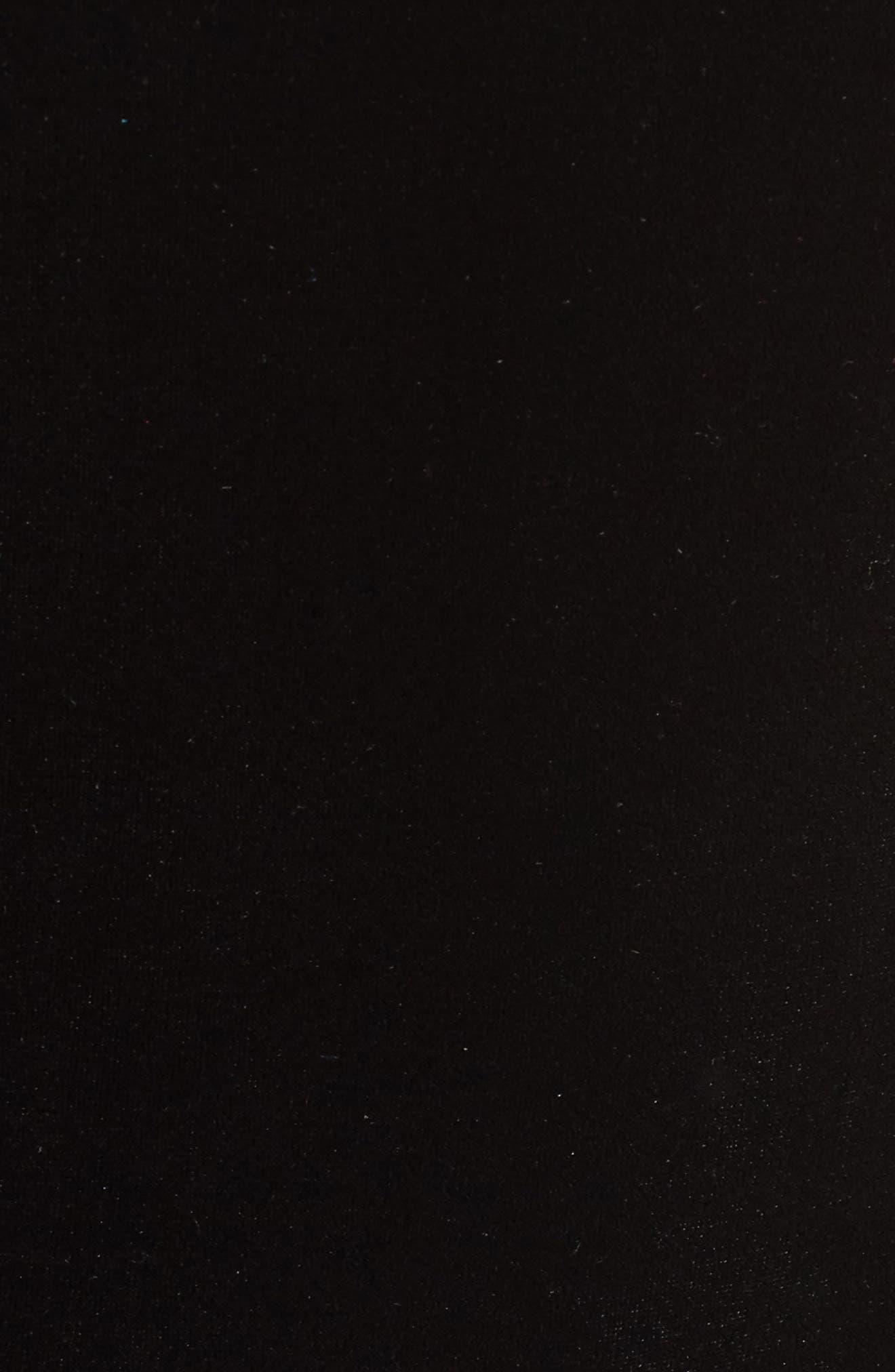 One-Shoulder Velvet Sheath Dress,                             Alternate thumbnail 5, color,                             BLACK