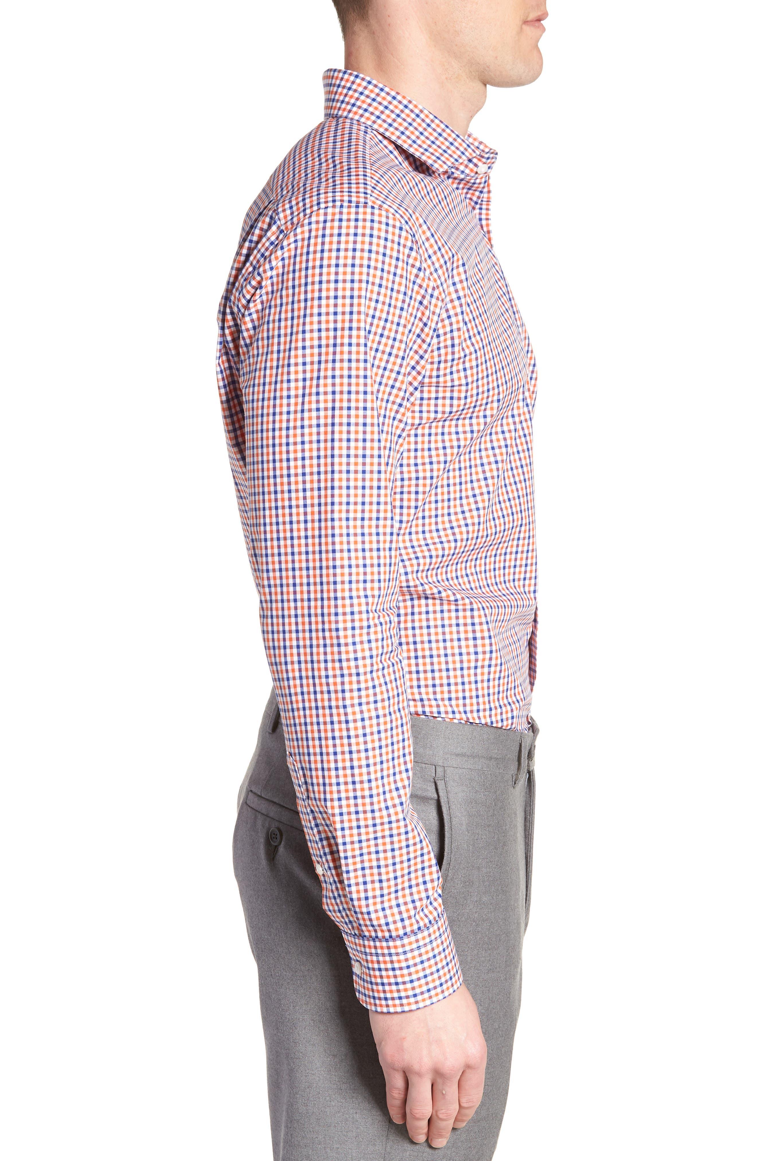 Trim Fit Check Dress Shirt,                             Alternate thumbnail 12, color,