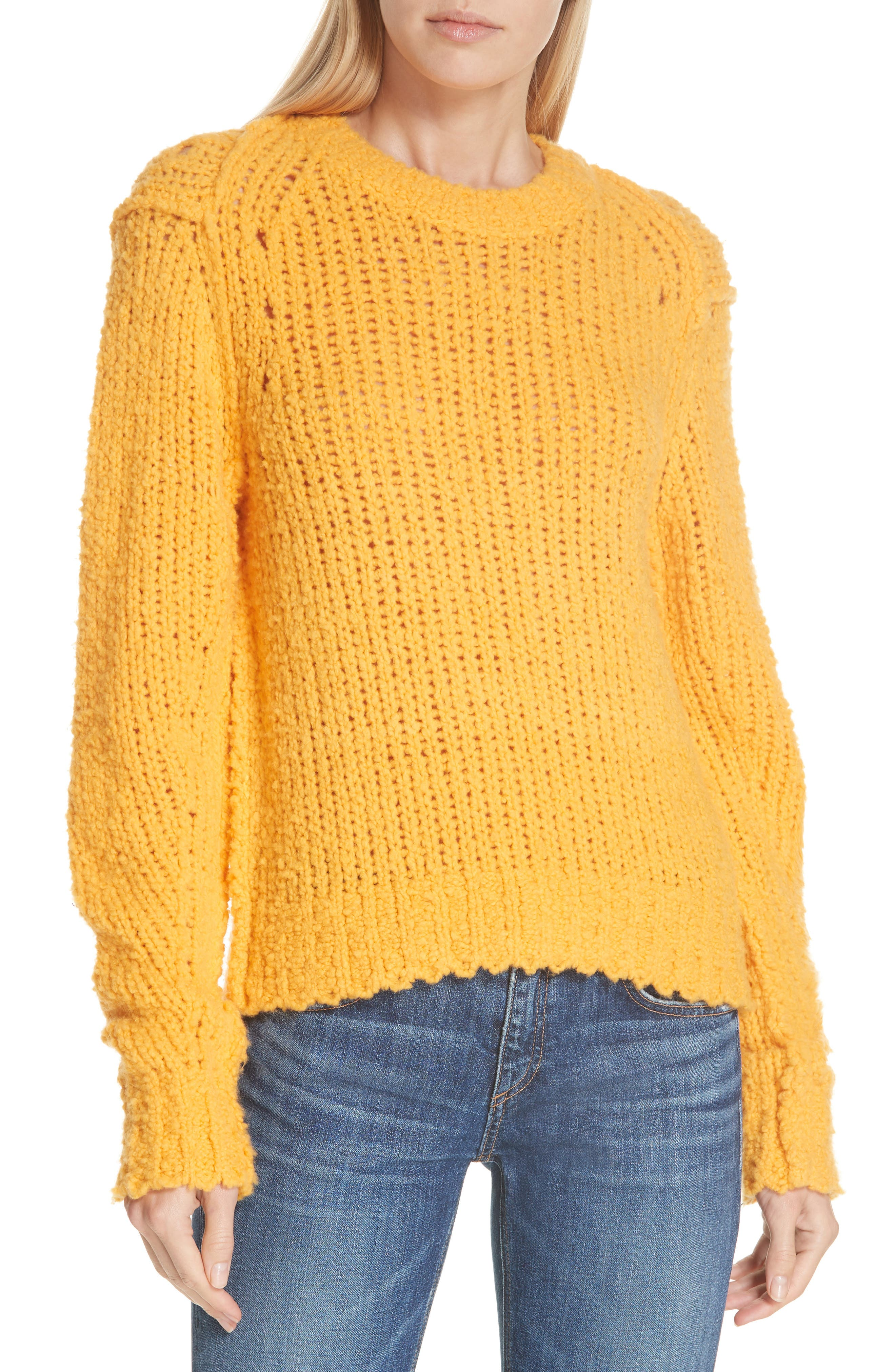 Arizona Merino Wool Sweater,                             Main thumbnail 1, color,                             GOLD