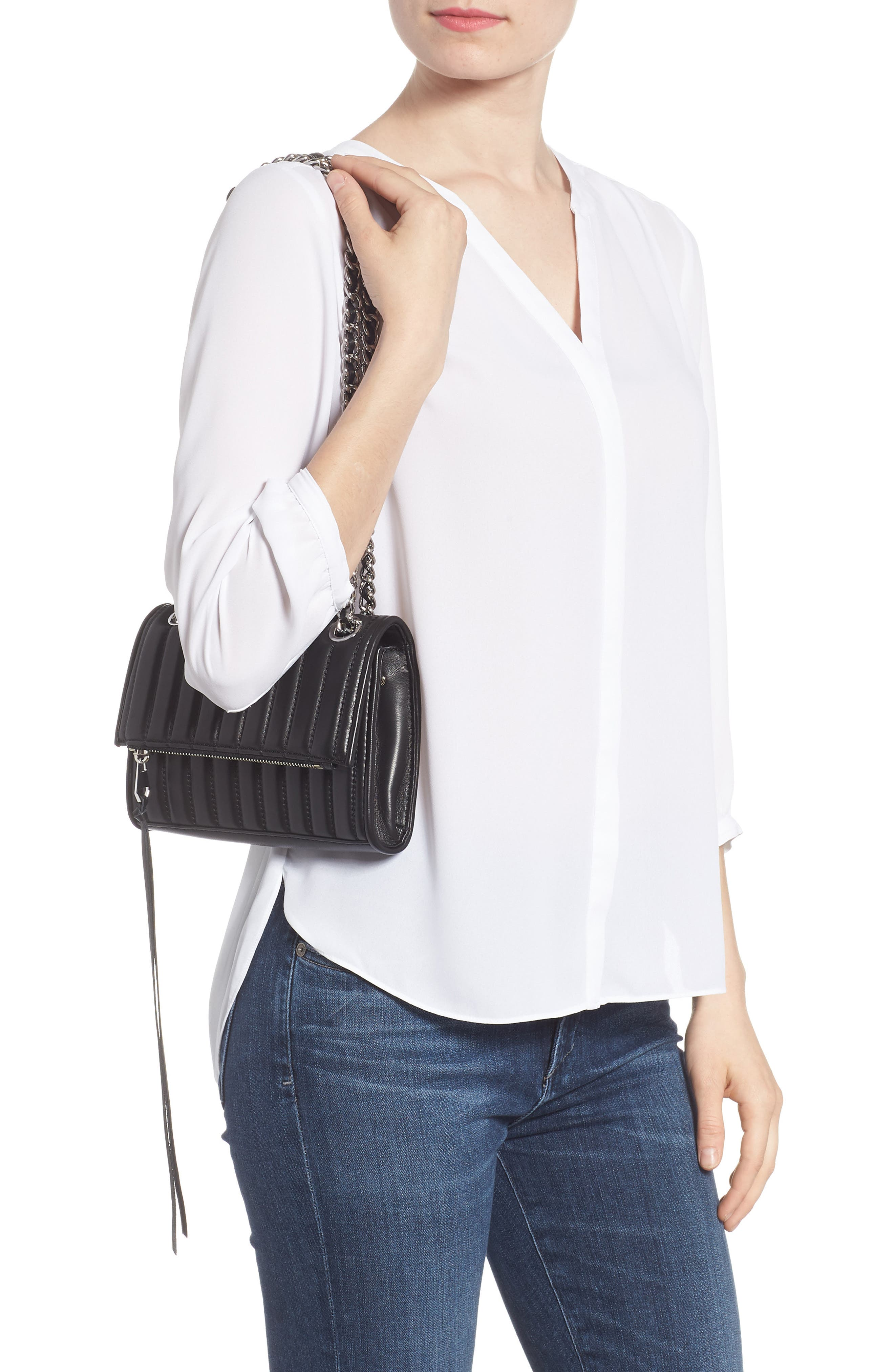 Dylan Quilted Leather Crossbody Bag,                             Alternate thumbnail 2, color,                             001