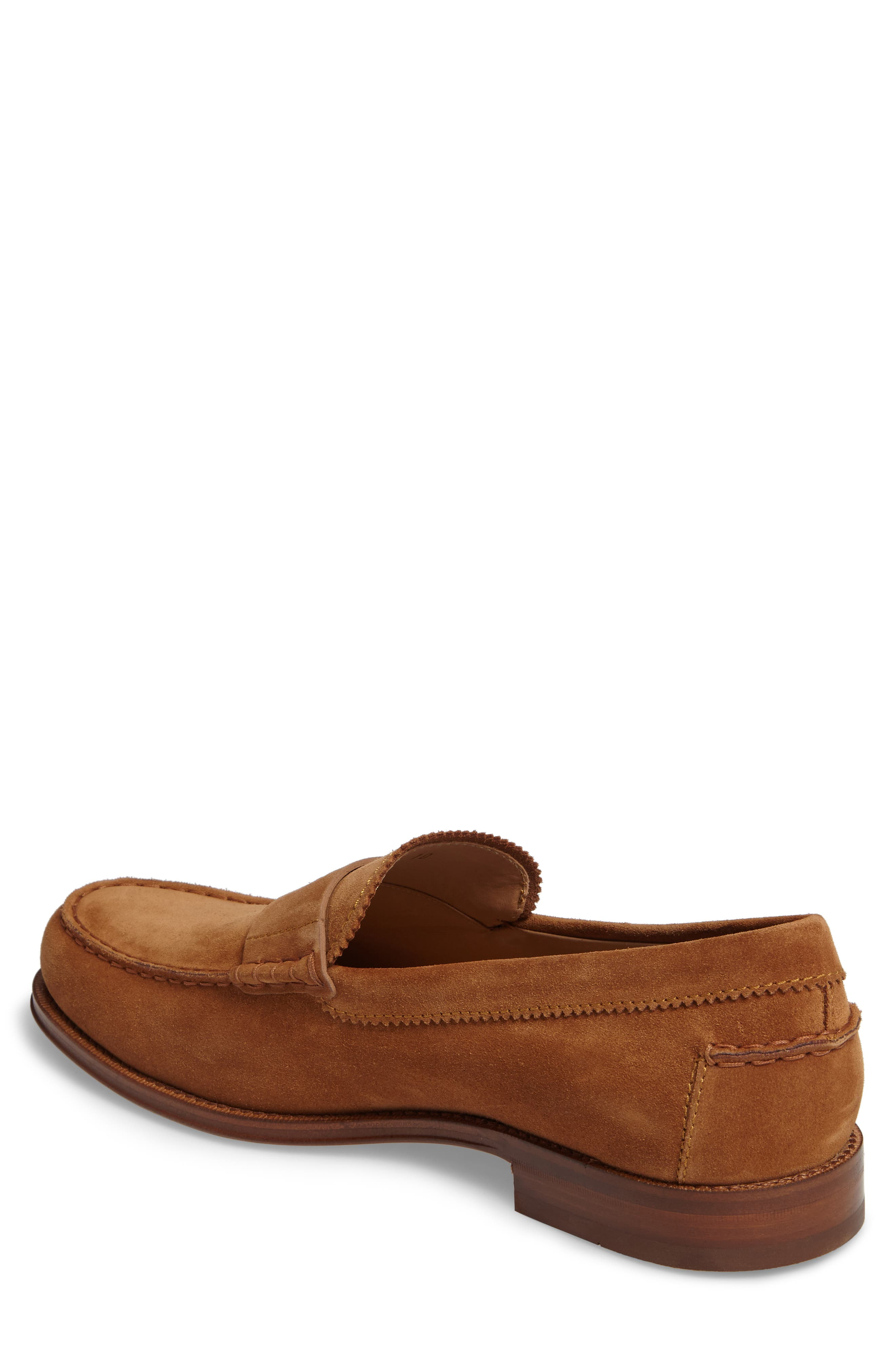 Suede Penny Loafer,                             Alternate thumbnail 3, color,