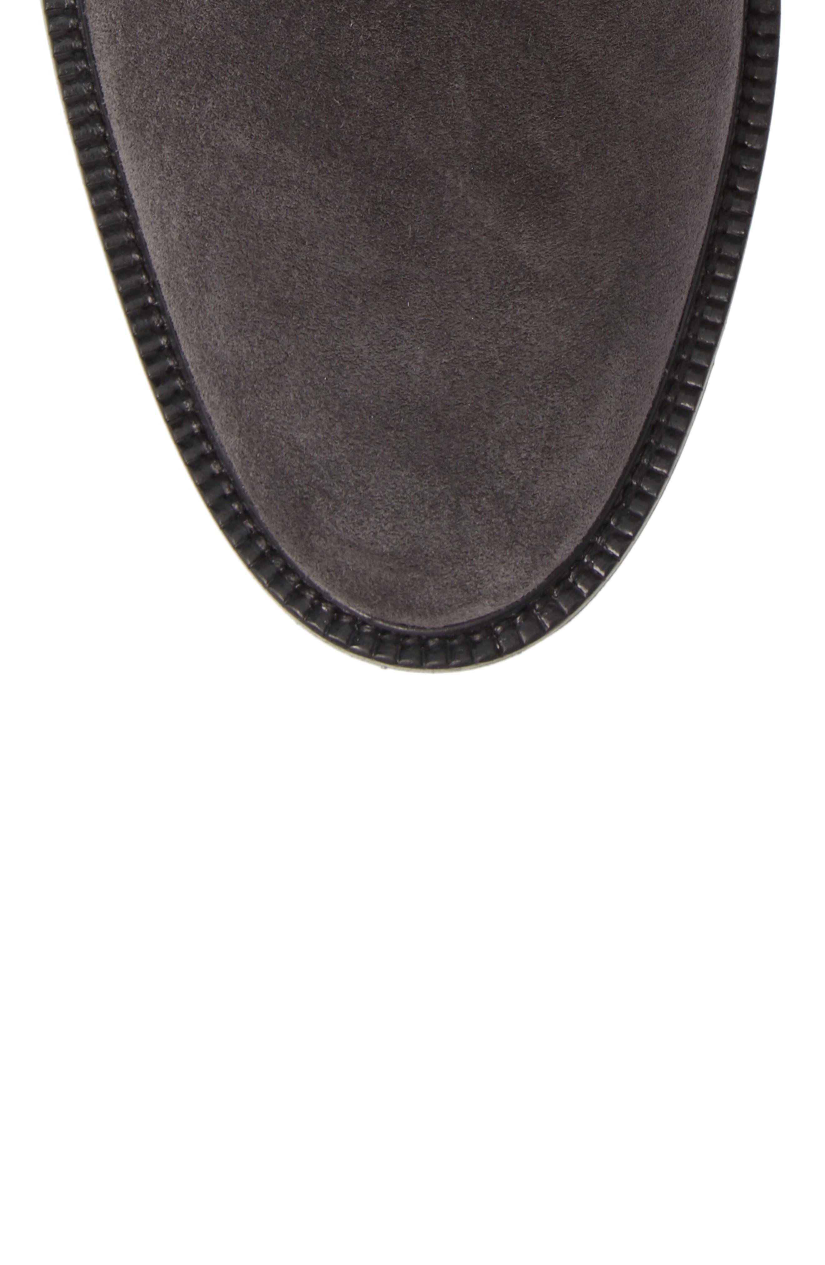 Microlight Plain Toe Boot,                             Alternate thumbnail 5, color,                             CHARCOAL LEATHER