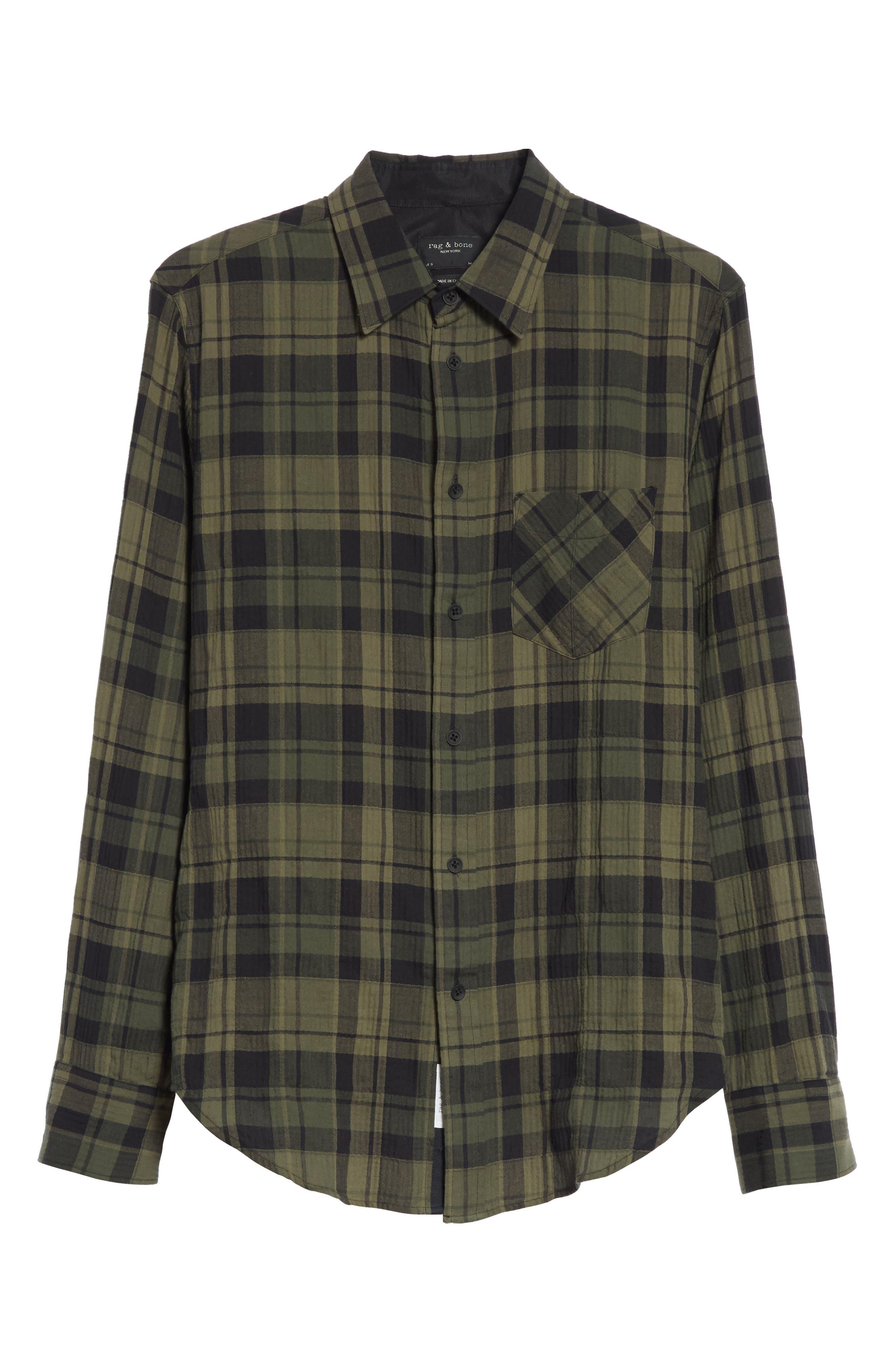 Fit 3 Base Plaid Flannel Shirt,                             Alternate thumbnail 6, color,