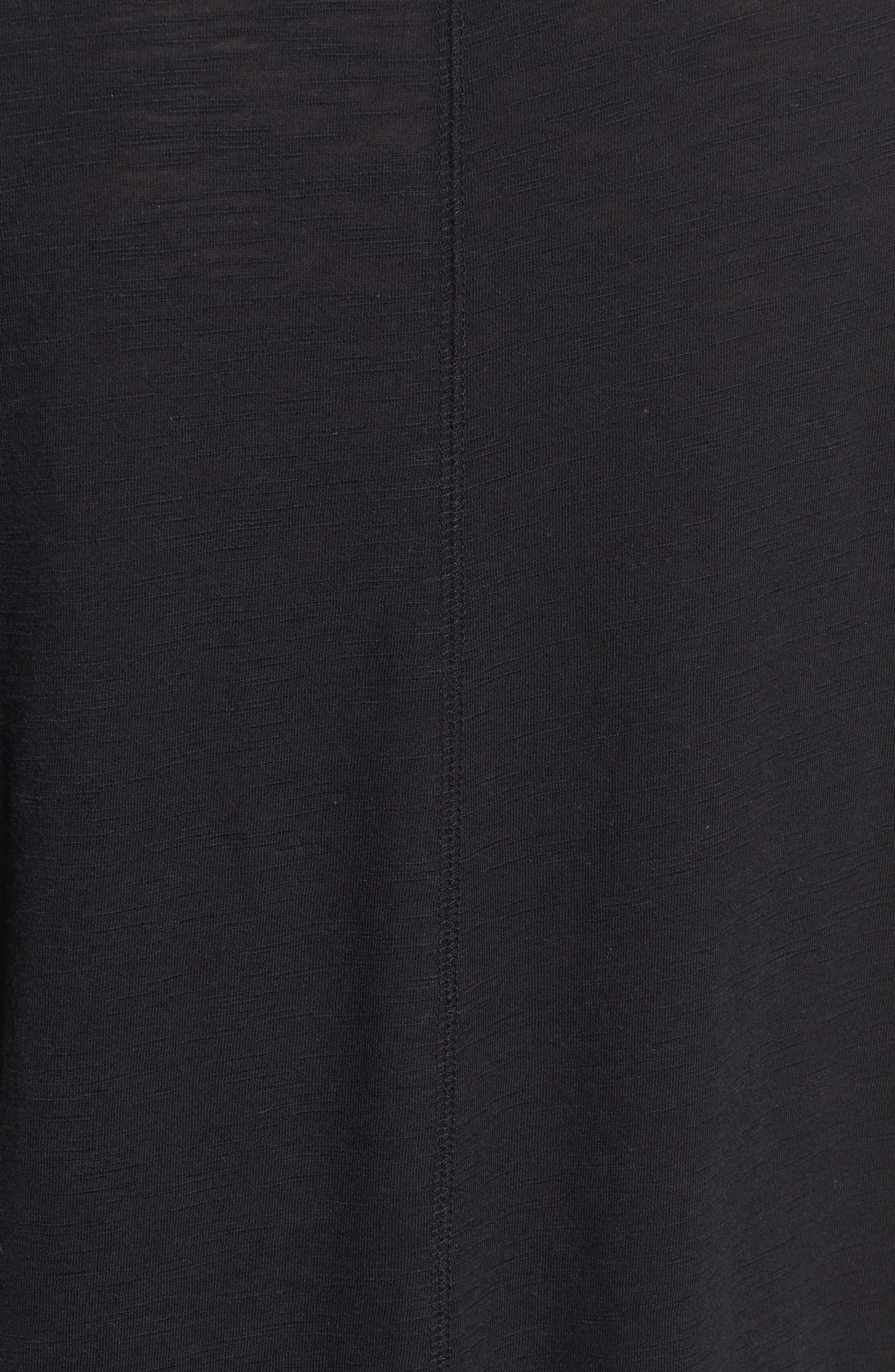 Dolman Sleeve Slub Knit Tee,                             Alternate thumbnail 5, color,                             001
