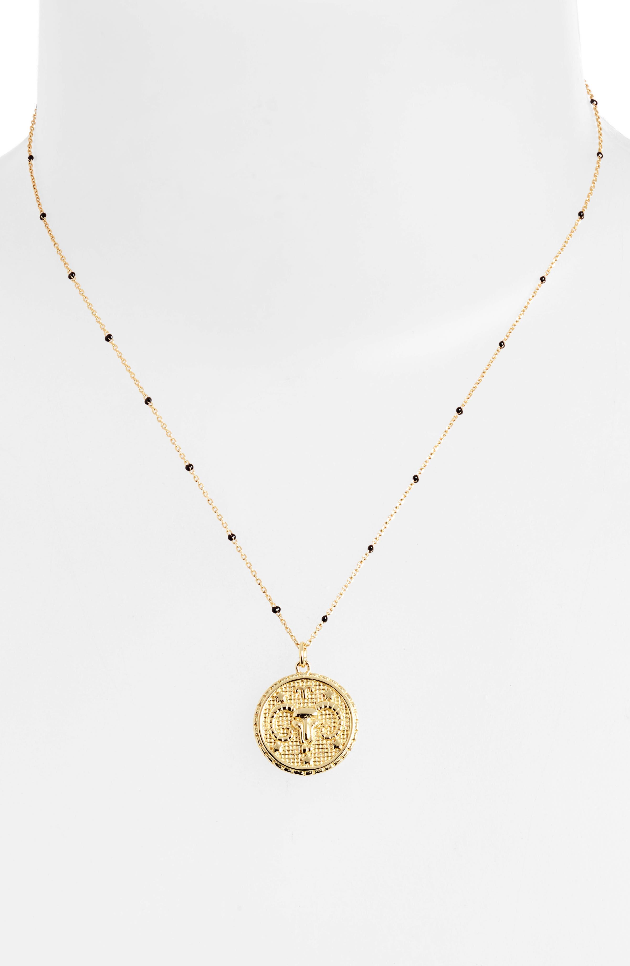 Zodiac Pendant Necklace,                             Alternate thumbnail 2, color,                             ARIES
