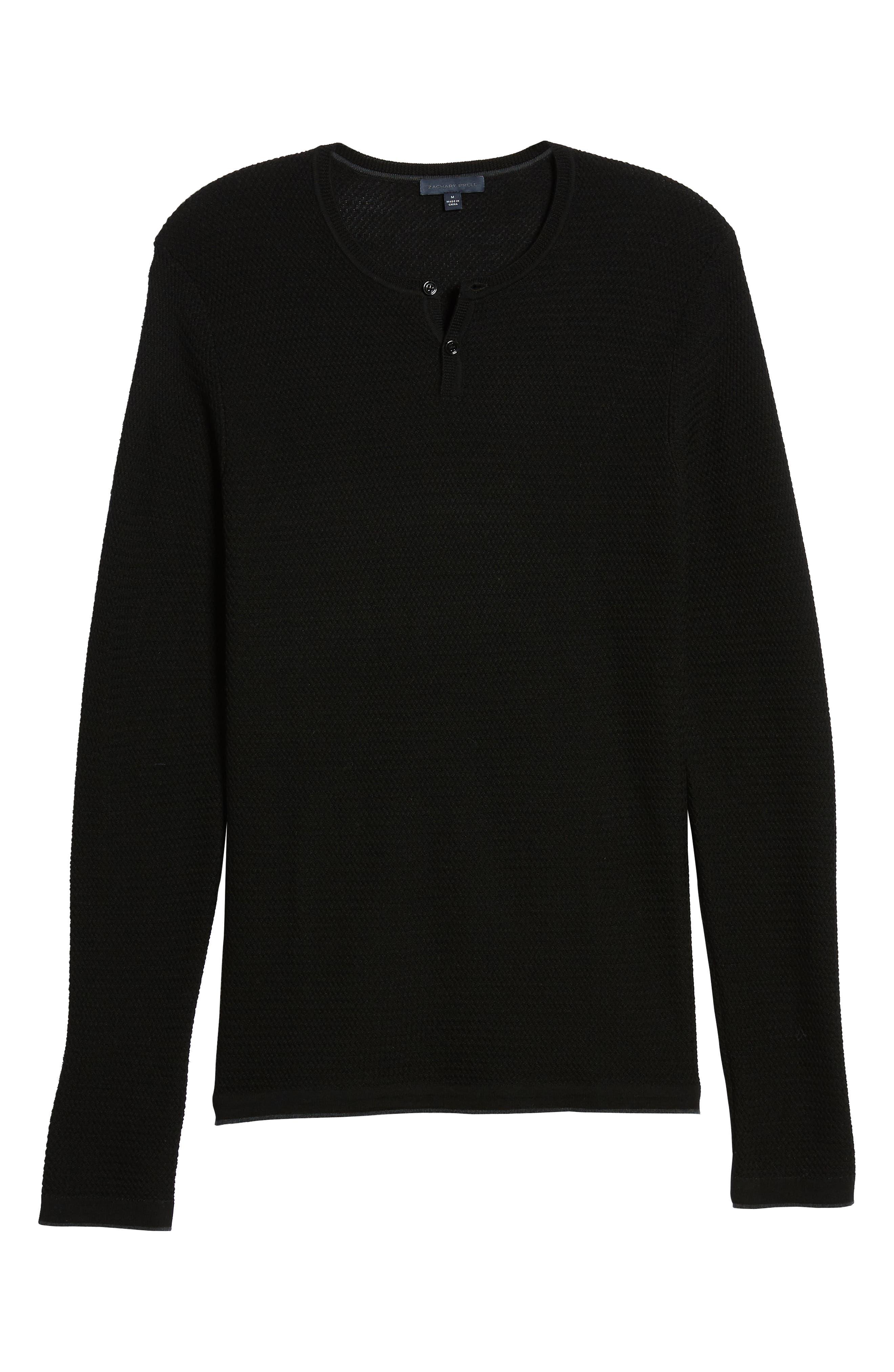 Hawthorn Wool Blend Thermal,                             Alternate thumbnail 6, color,                             BLACK