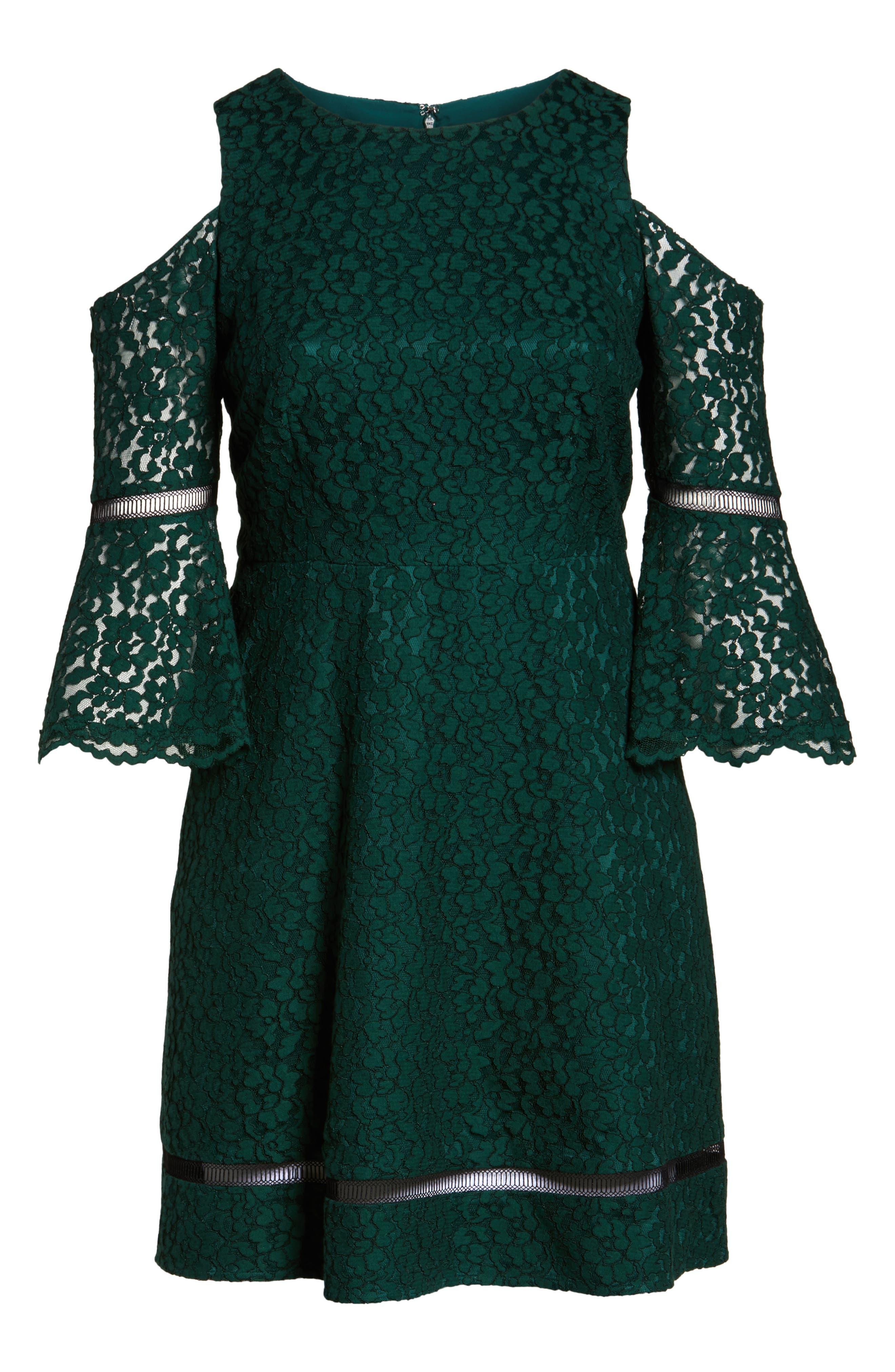Cold Shoulder Lace Dress,                             Alternate thumbnail 6, color,                             310