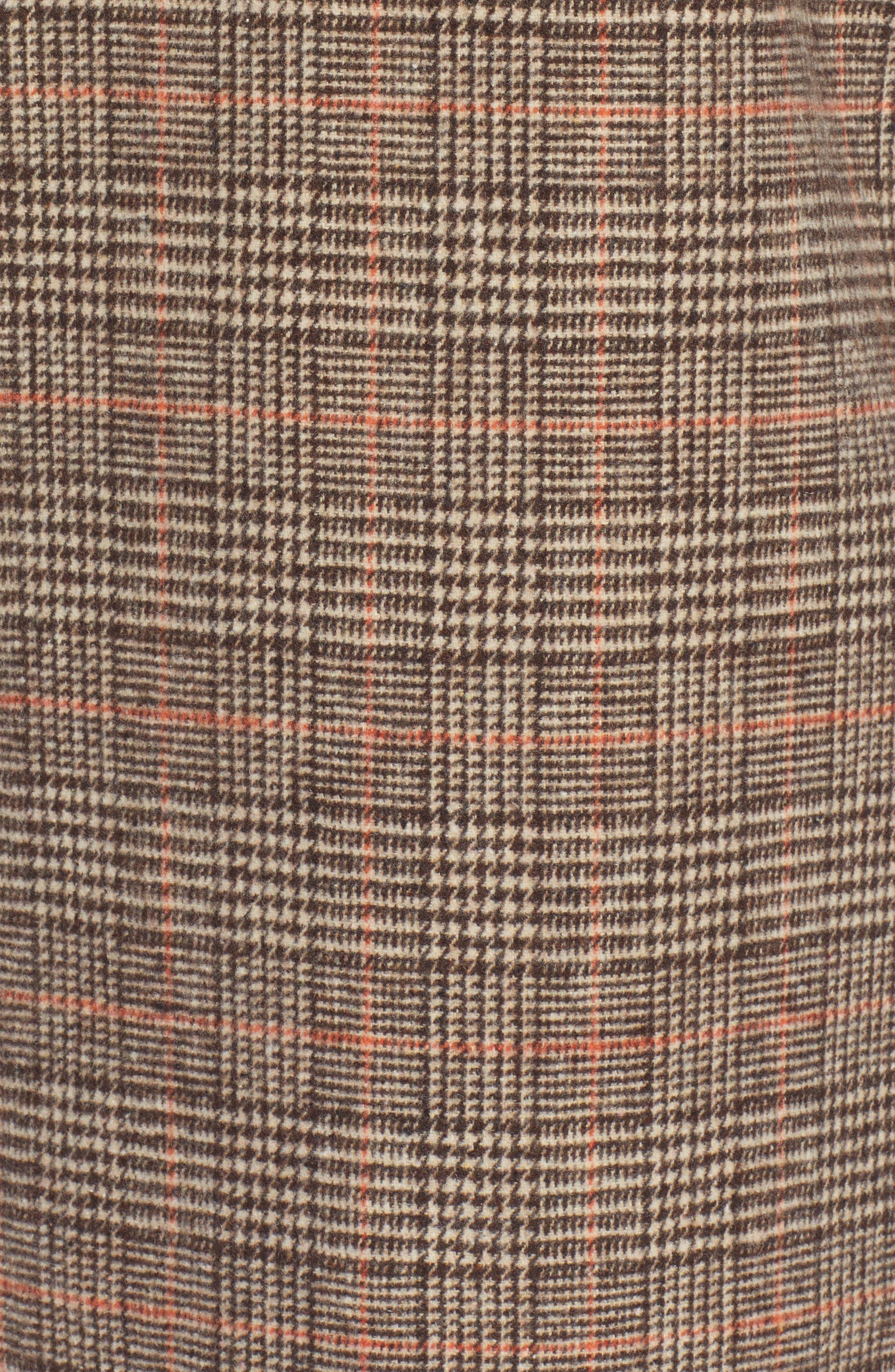 SOMETHING NAVY,                             Patch Pocket Plaid Coat,                             Alternate thumbnail 7, color,                             210