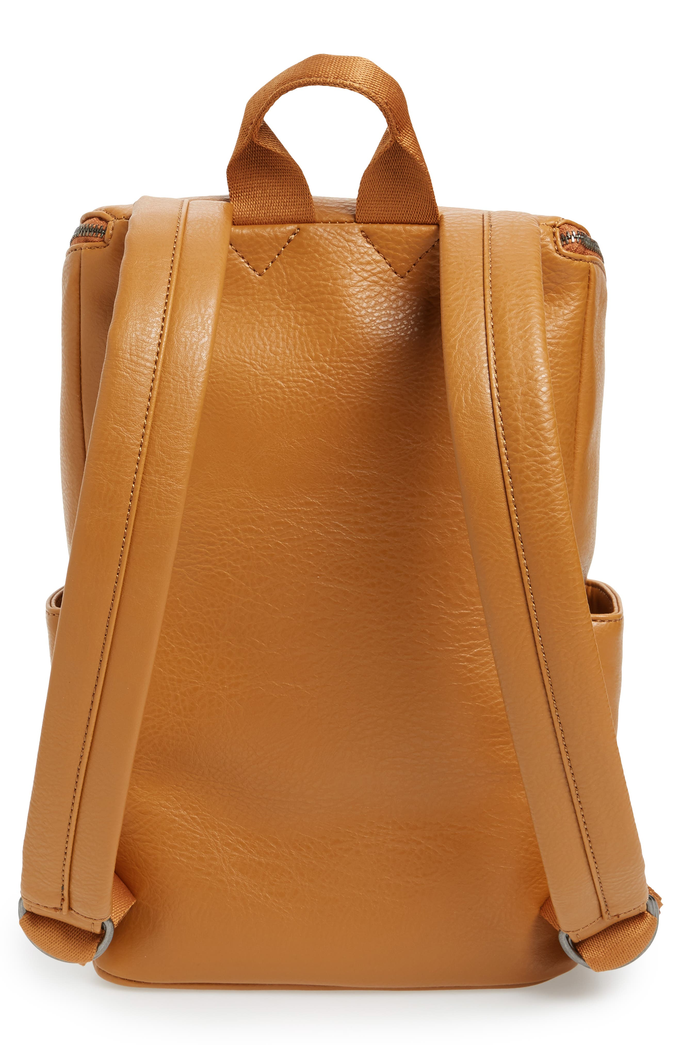 'Brave' Faux Leather Backpack,                             Alternate thumbnail 72, color,
