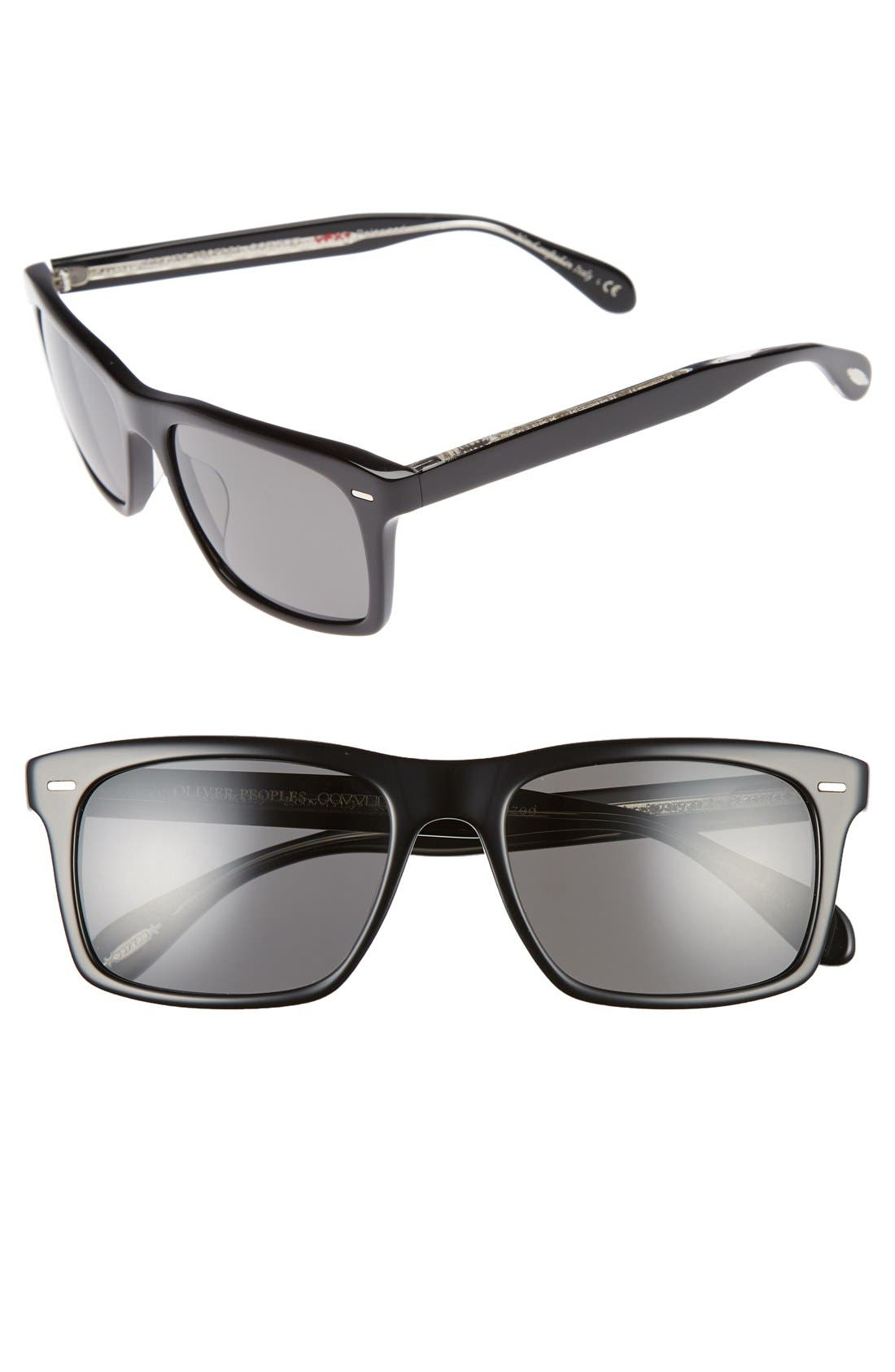 Brodsky 55mm Polarized Sunglasses,                             Alternate thumbnail 2, color,                             001