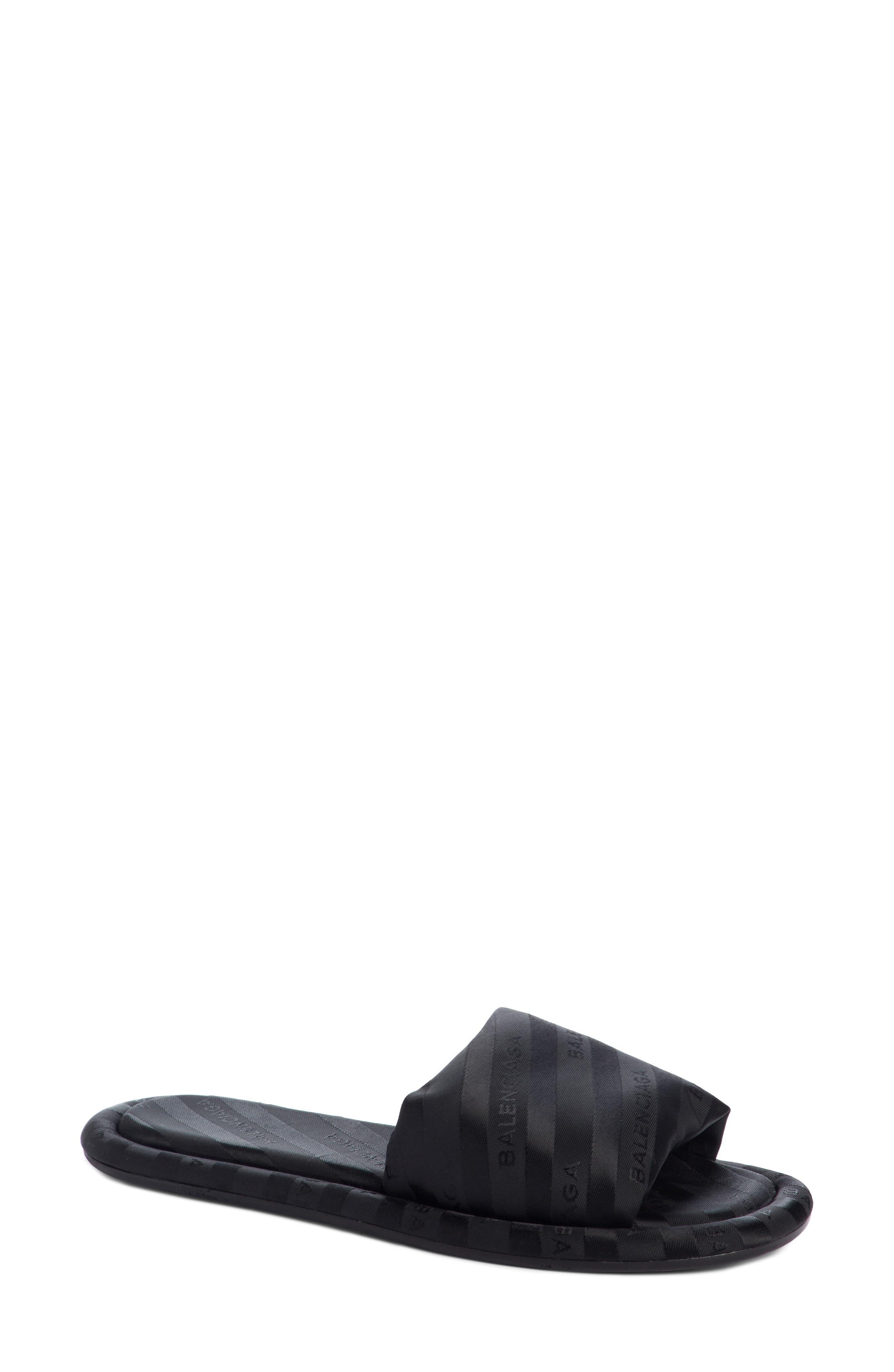 Stripe Slide Sandal,                             Main thumbnail 1, color,                             001