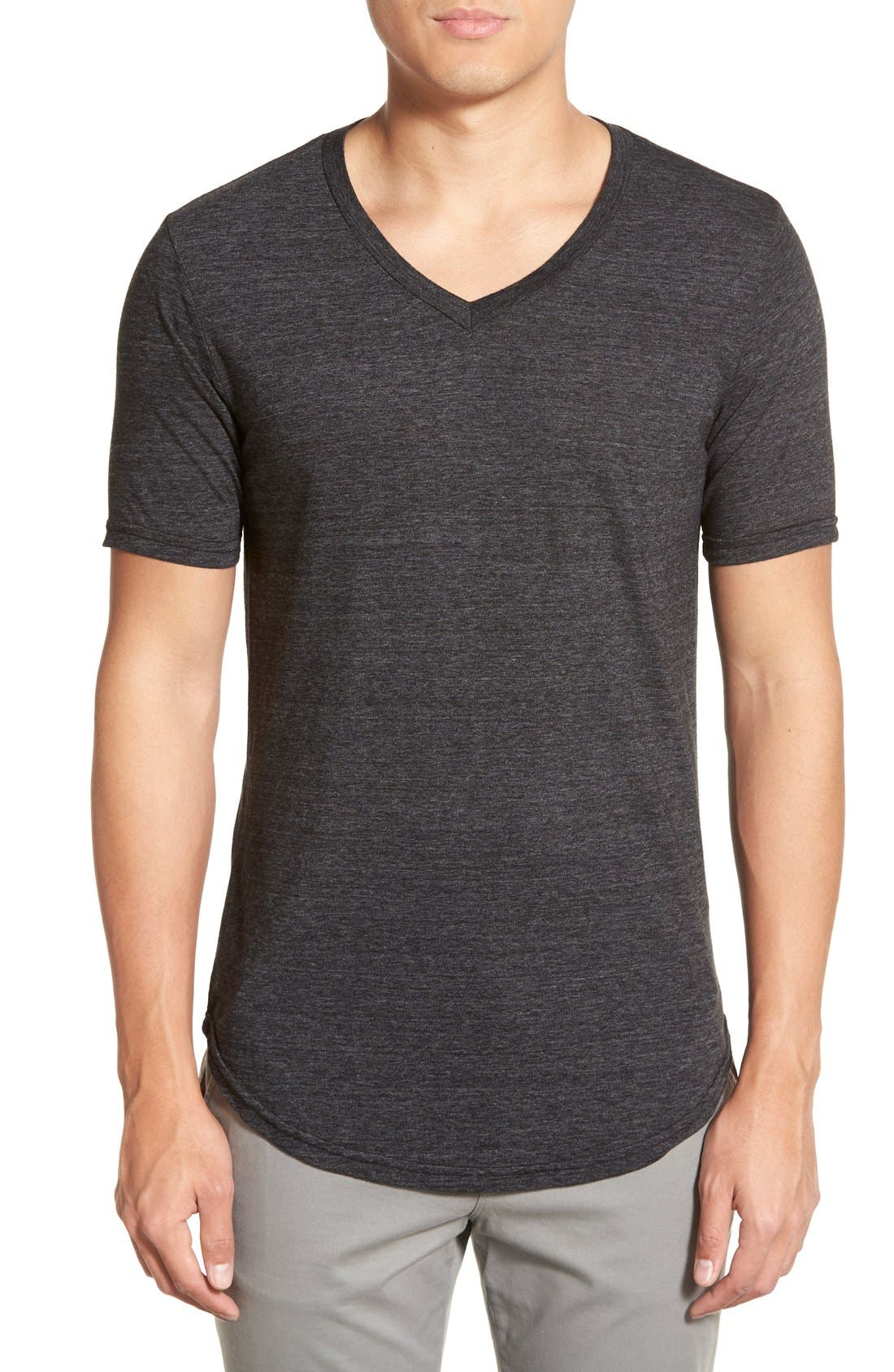 Scallop Triblend V-Neck T-Shirt,                             Main thumbnail 16, color,